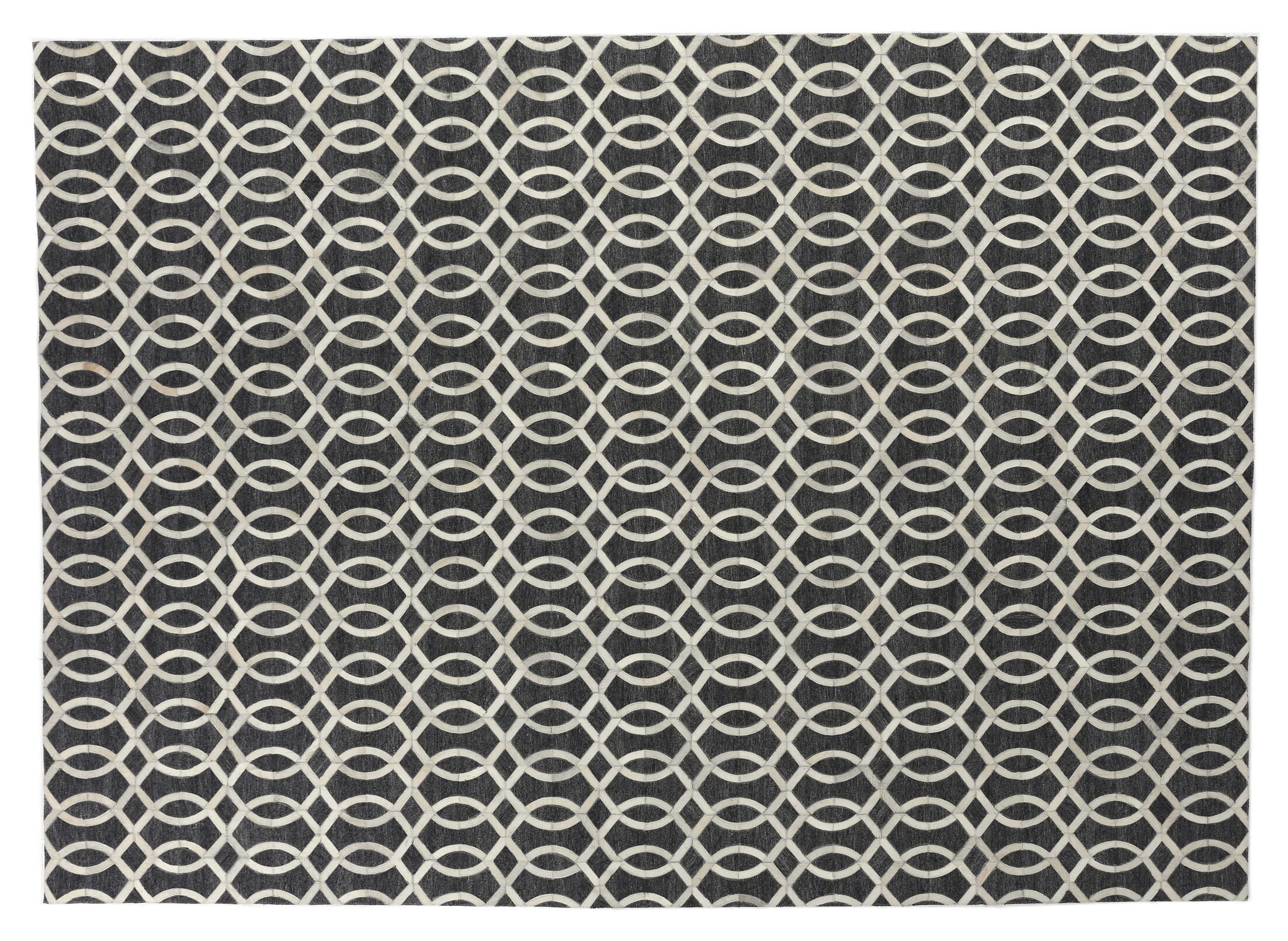 Berlin Charcoal/Ivory Area Rug Rug Size: Rectangle 12' x 15'