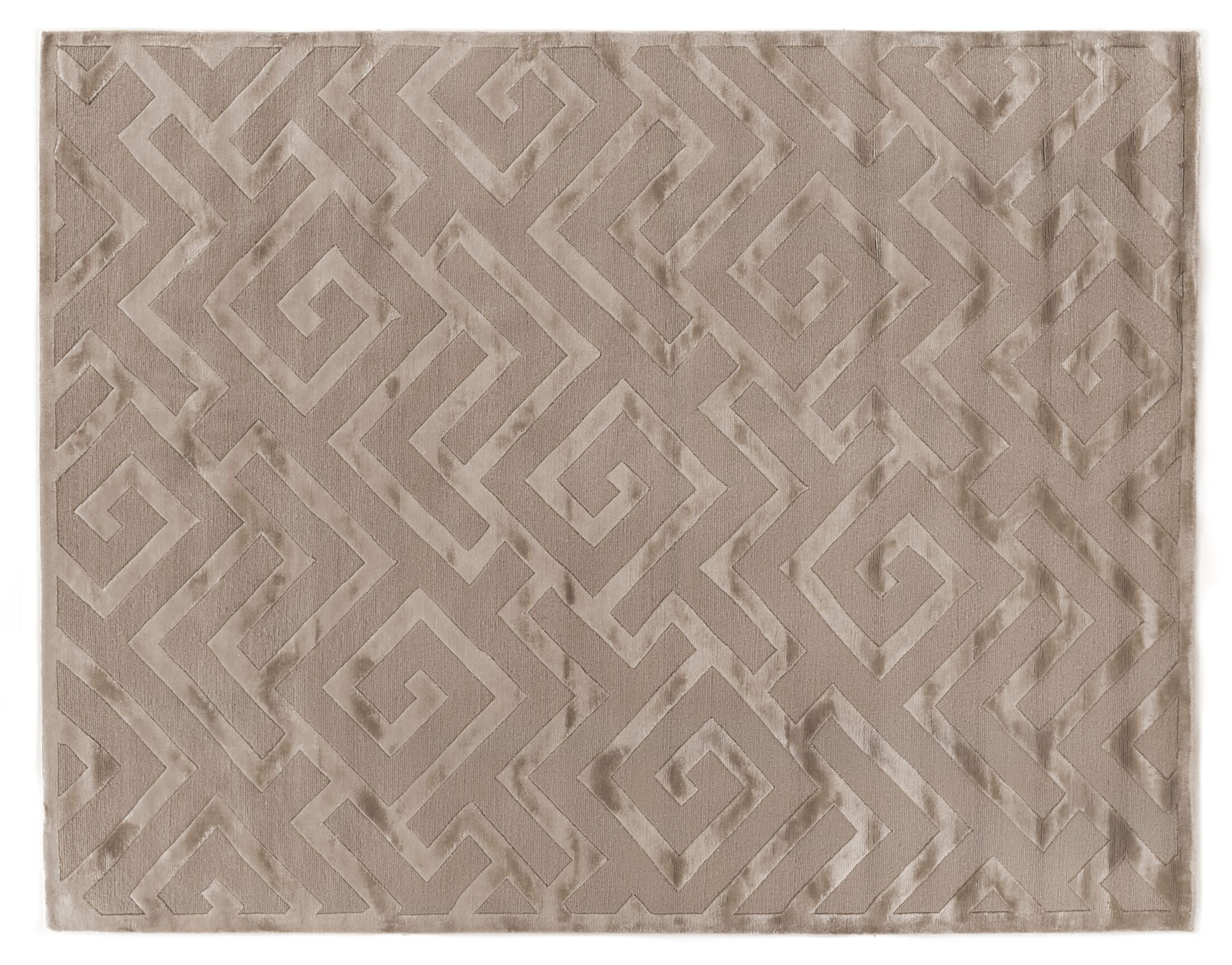Metro Hand-Knotted Wool Beige Area Rug
