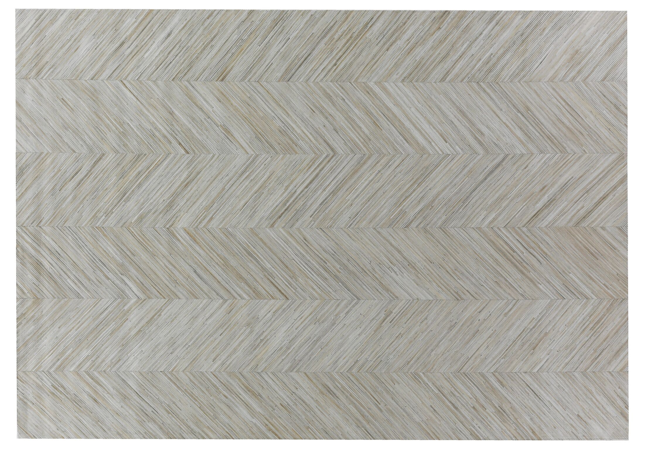 Natural Hide Leather Hand-Woven Gray Area Rug Rug Size: Rectangle 8' x 11'