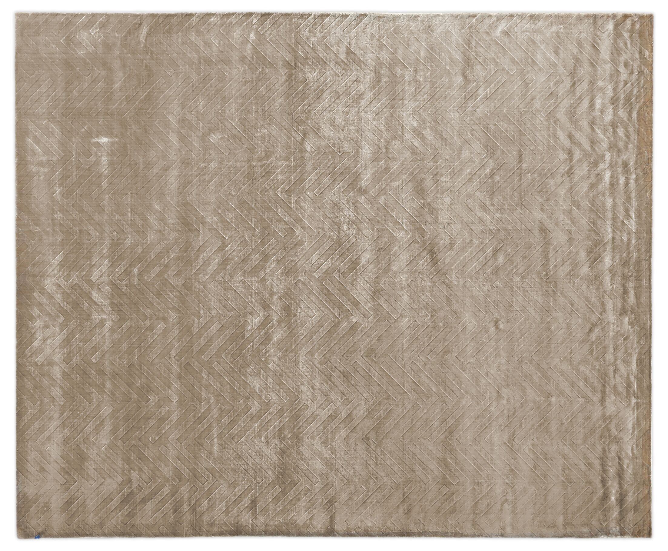Smooch Carved Hand-Woven Silk Brown Area Rug Rug Size: Rectangle14' x 18'