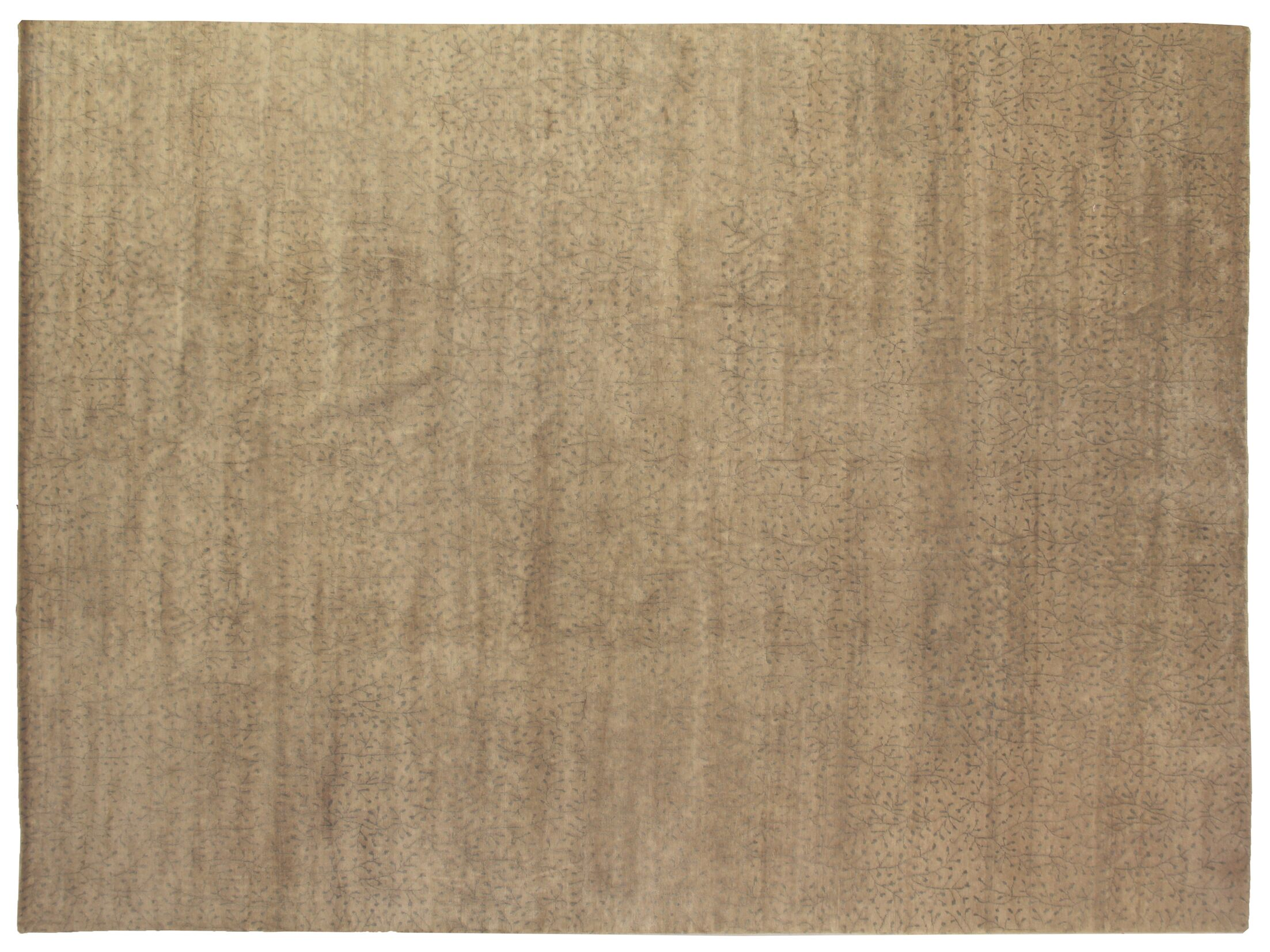 Metropolitan Hand Knotted Wool Ivory/Green Area Rug Rug Size: Rectangle 3' x 5'
