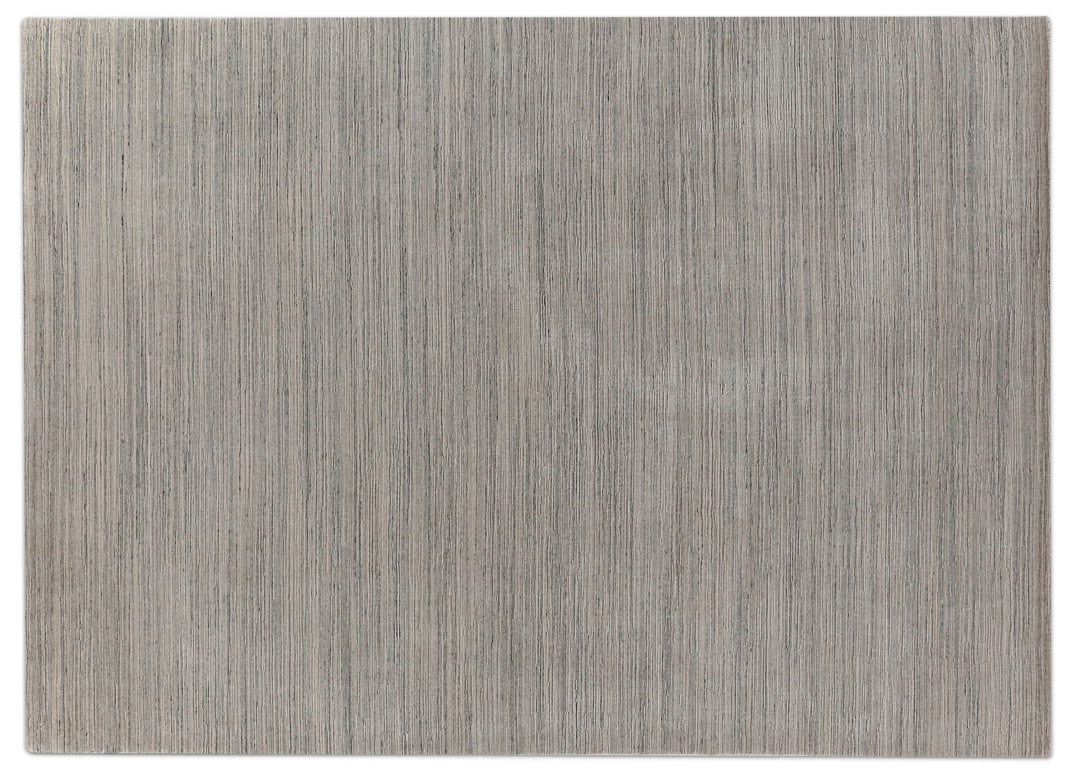 Palazzo Hand Woven Silk Dark Gray/Gray Area Rug Rug Size: Rectangle 8' x 11'