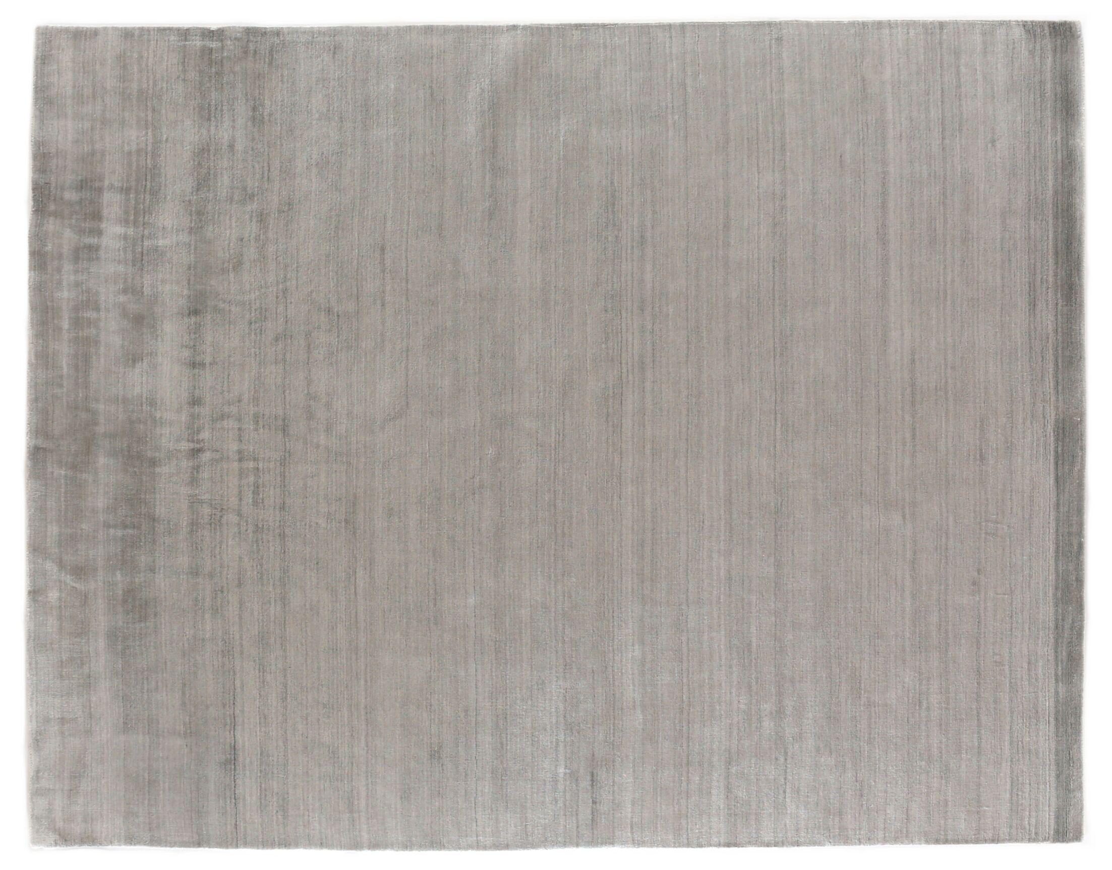 Sanctuary Hand Woven Silk Gray Area Rug Rug Size: Rectangle 14' x 18'