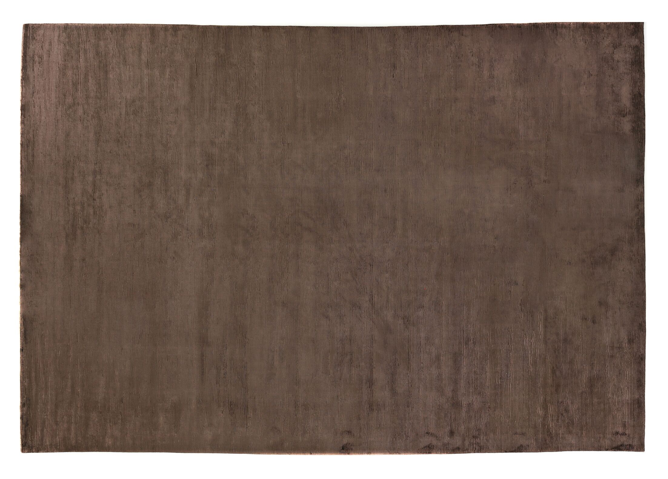Dove Courduroy Hand-Woven Silk Brown Area Rug Rug Size: Rectangle 6' x 9'