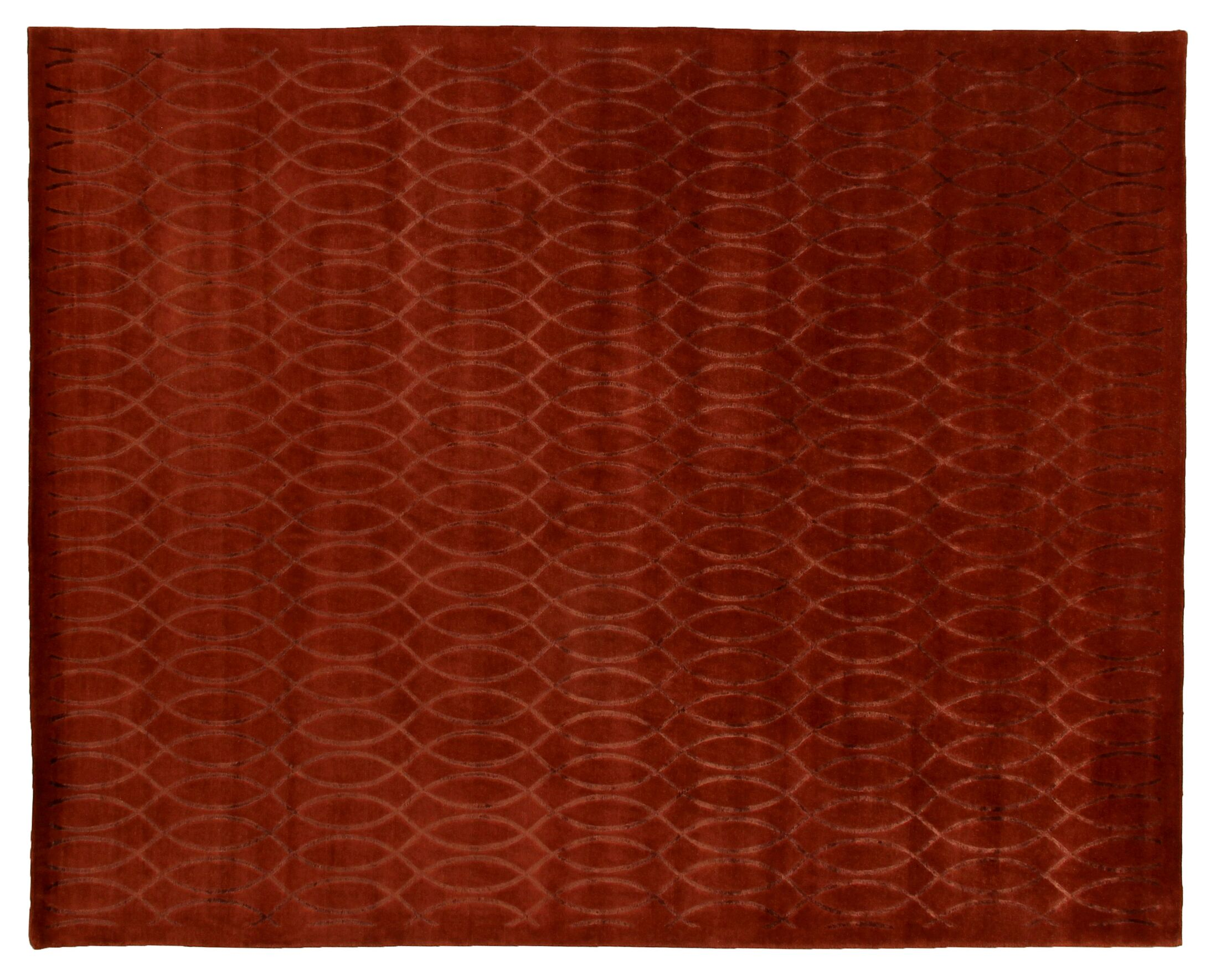 Super Tibetan Hand Knotted Ruby/Red Area Rug Rug Size: Rectangle 12' x 15'