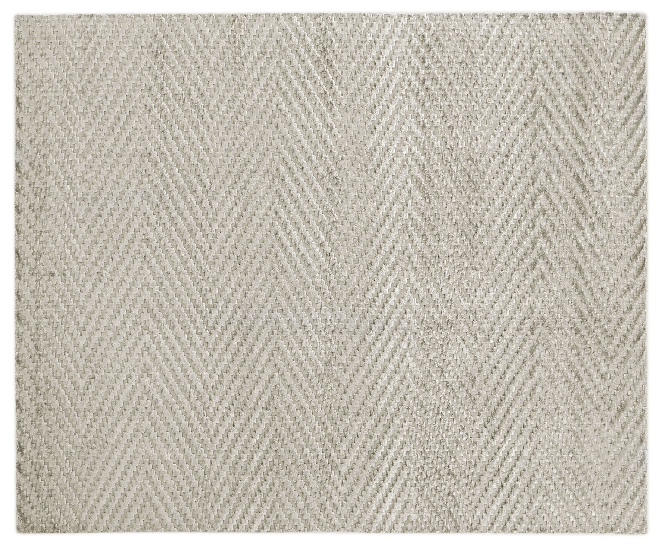 Kingsley Hand-Woven Silver Area Rug Rug Size: Rectangle 10' x 14'