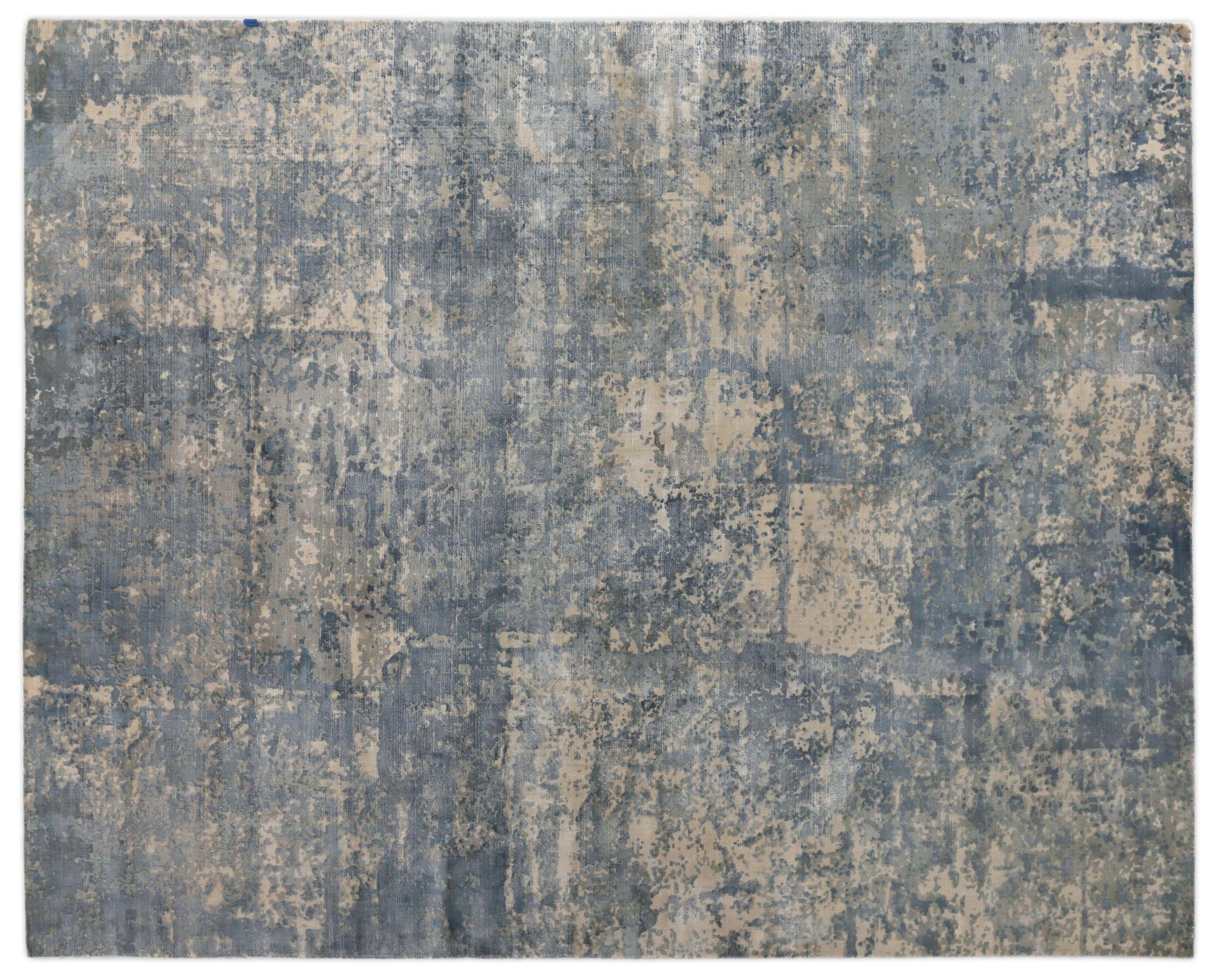 Koda Hand-Woven Silk River Rock Area Rug Rug Size: Rectangle 9' x 12'