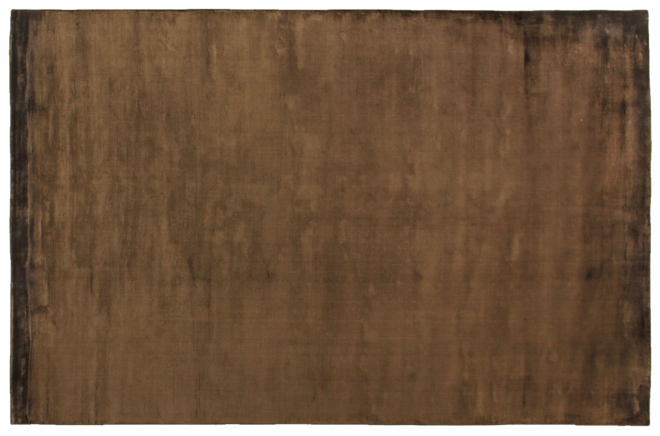 Plain Dove Hand-Knotted Silk Chocolate Area Rug Rug Size: Rectangle 4' x 6'