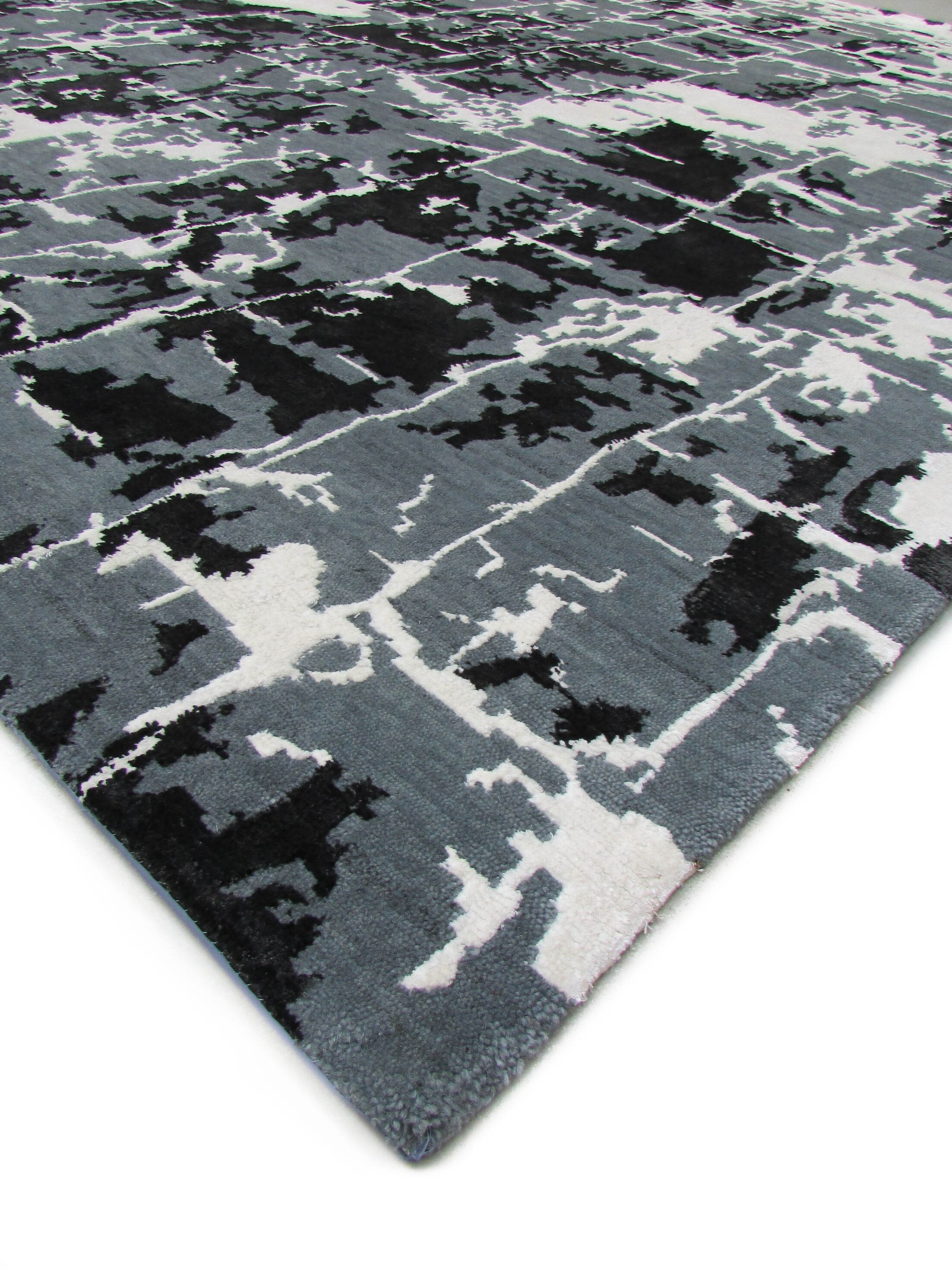 Hundley Hand-Knotted Wool Denim Area Rug Rug Size: Rectangle 12' x 15'