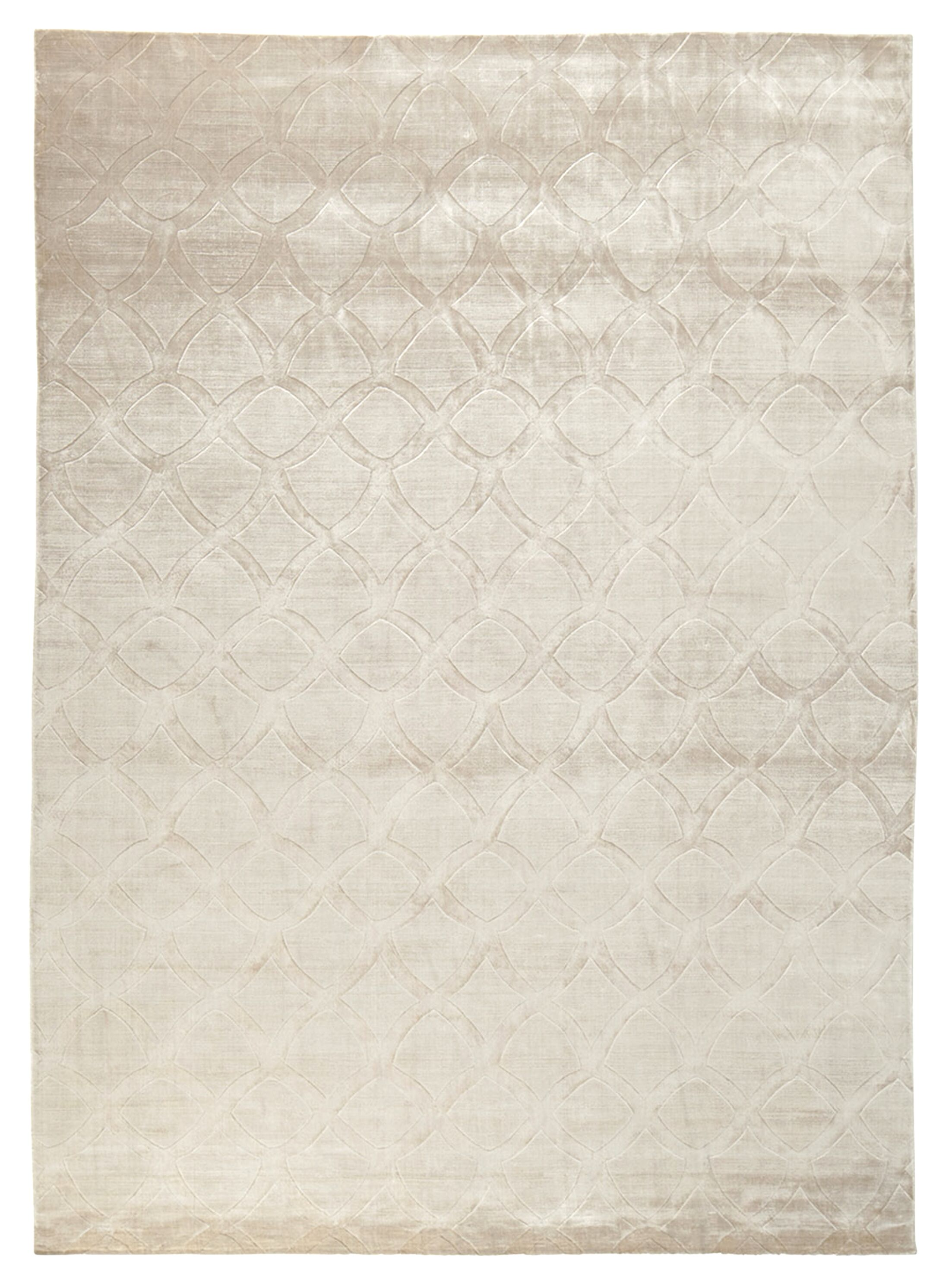 Smooch Carved Hand-Woven Silk Silver Area Rug Rug Size: Rectangle 9' x 12'