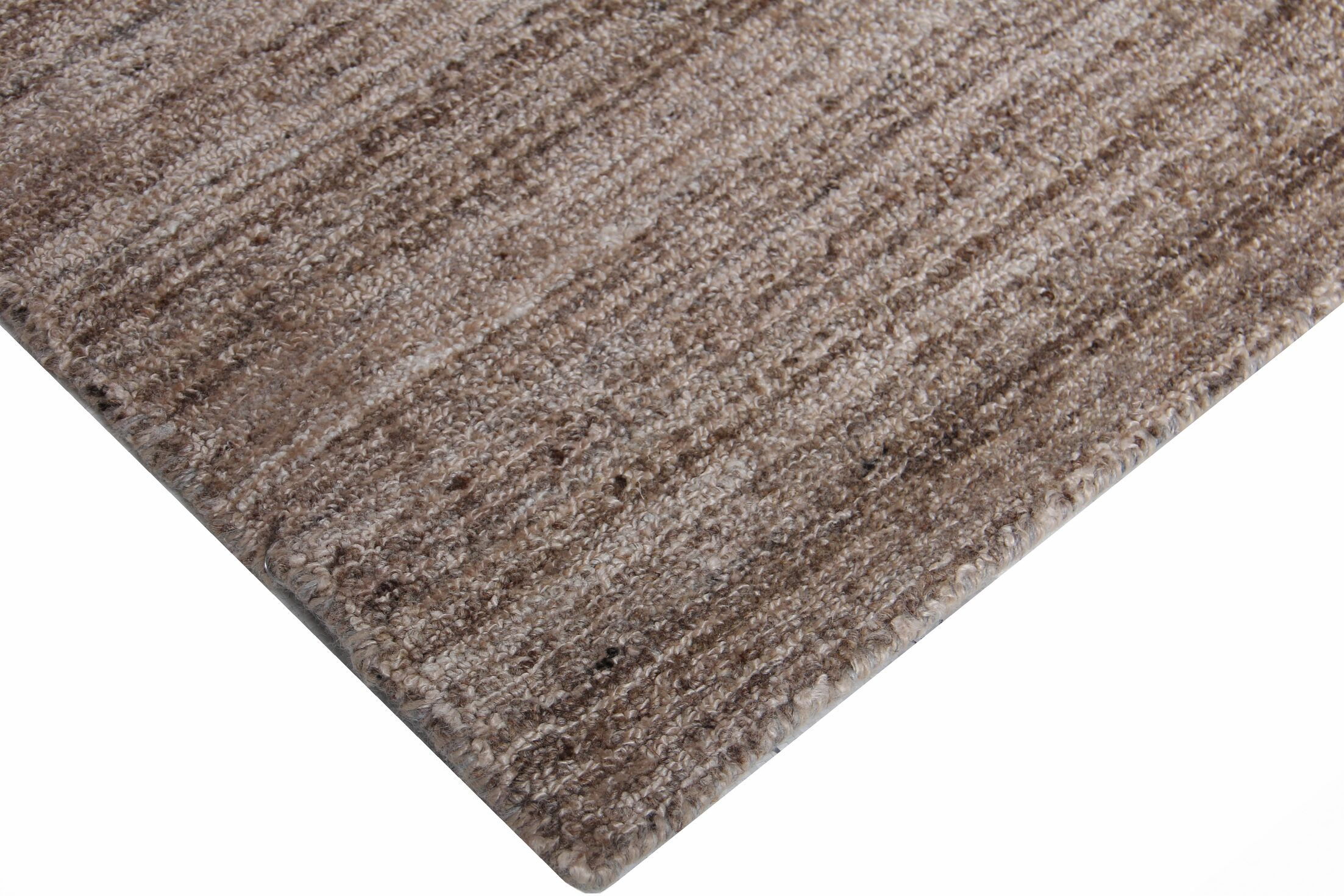 Gabrielle Tweed Hand-Tufted Wool Brown Area Rug Rug Size: Rectangle 8' x 10'