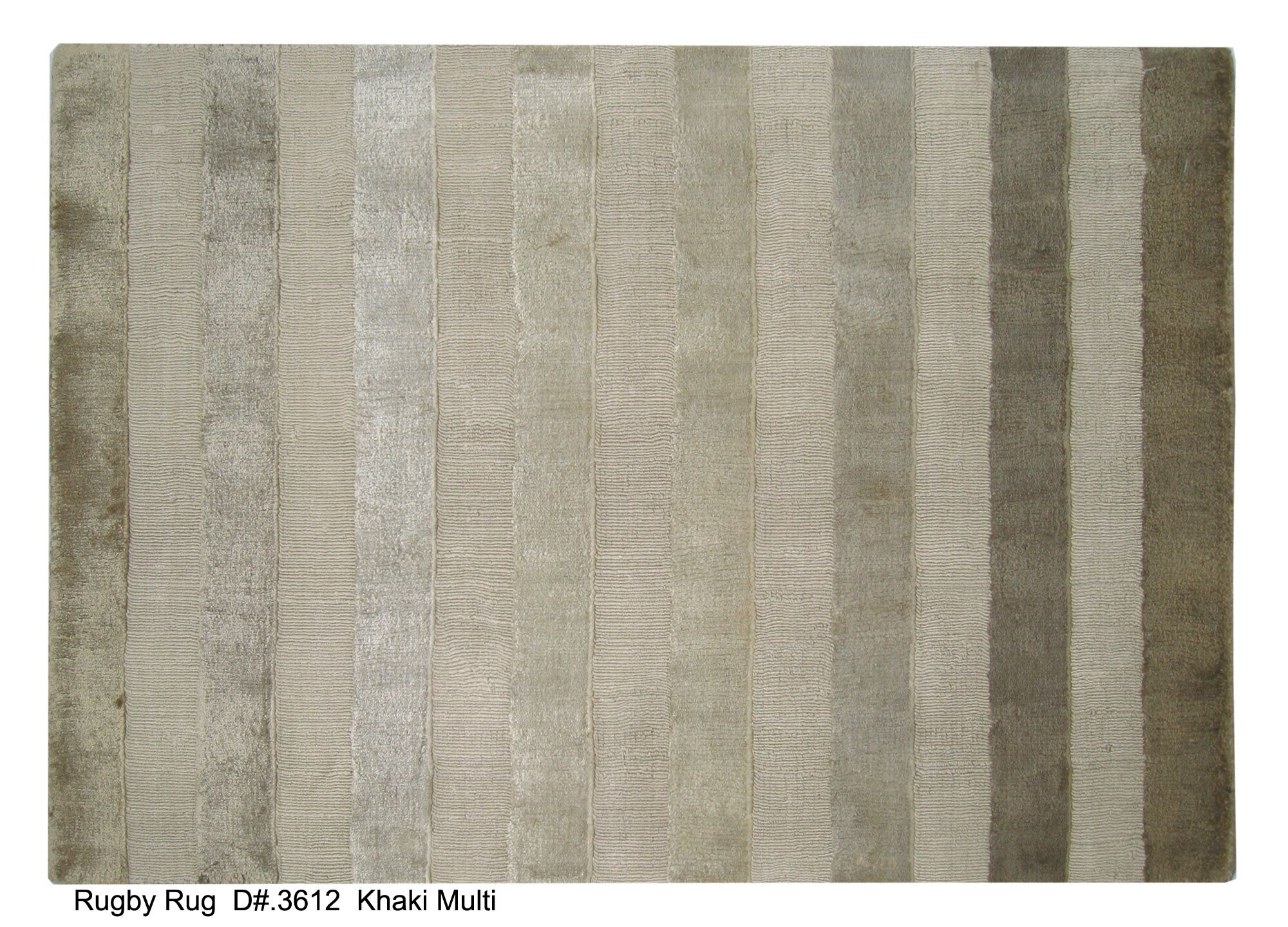 Rugby Tunnel Hand-Woven Khaki Area Rug Rug Size: 12' x 15'