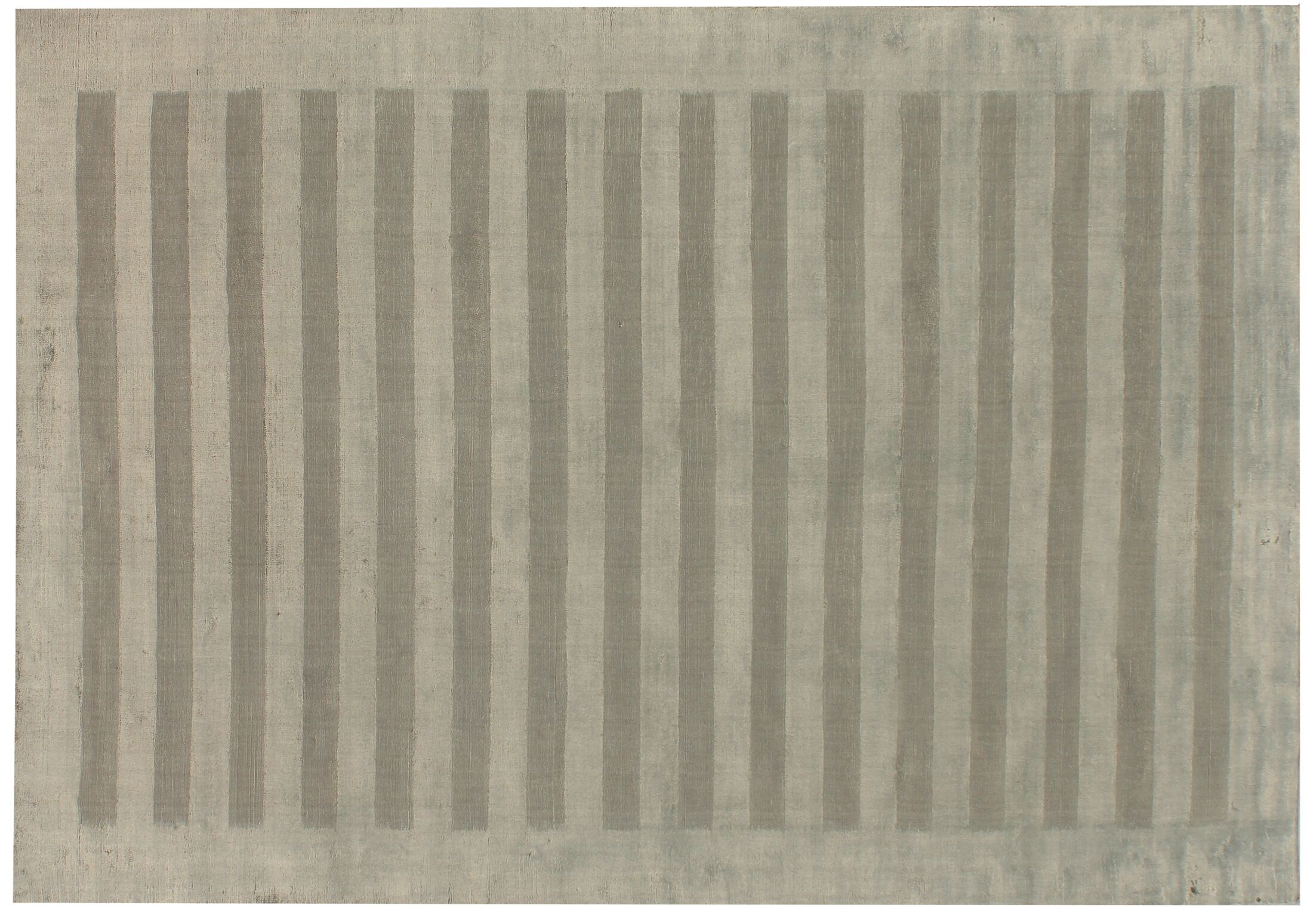 Wide Stripes Panel Hand-Woven Dark Gray Area Rug Rug Size: 12' x 15'