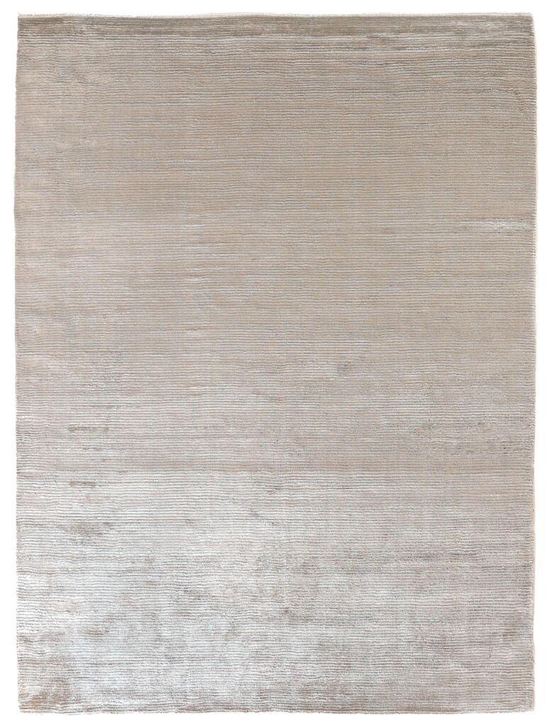 Dove Courduroy Hand-Woven Light Silver Area Rug Rug Size: 6' x 9'