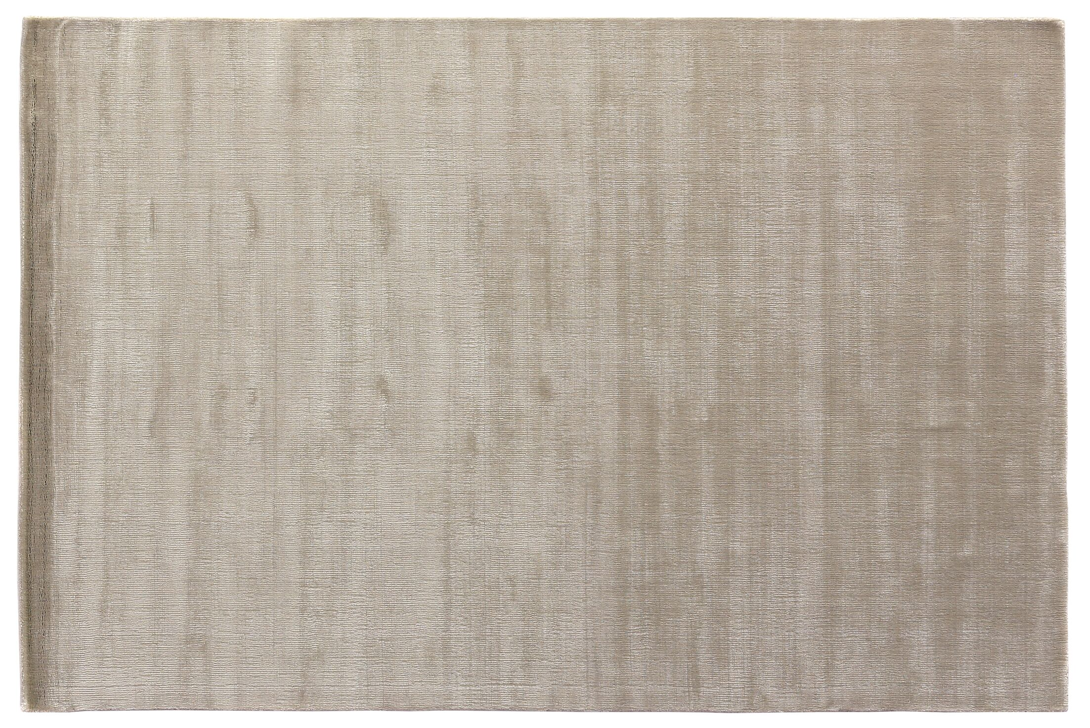 Smart Gem Hand-Woven Light Silver Area Rug Rug Size: 6' x 9'