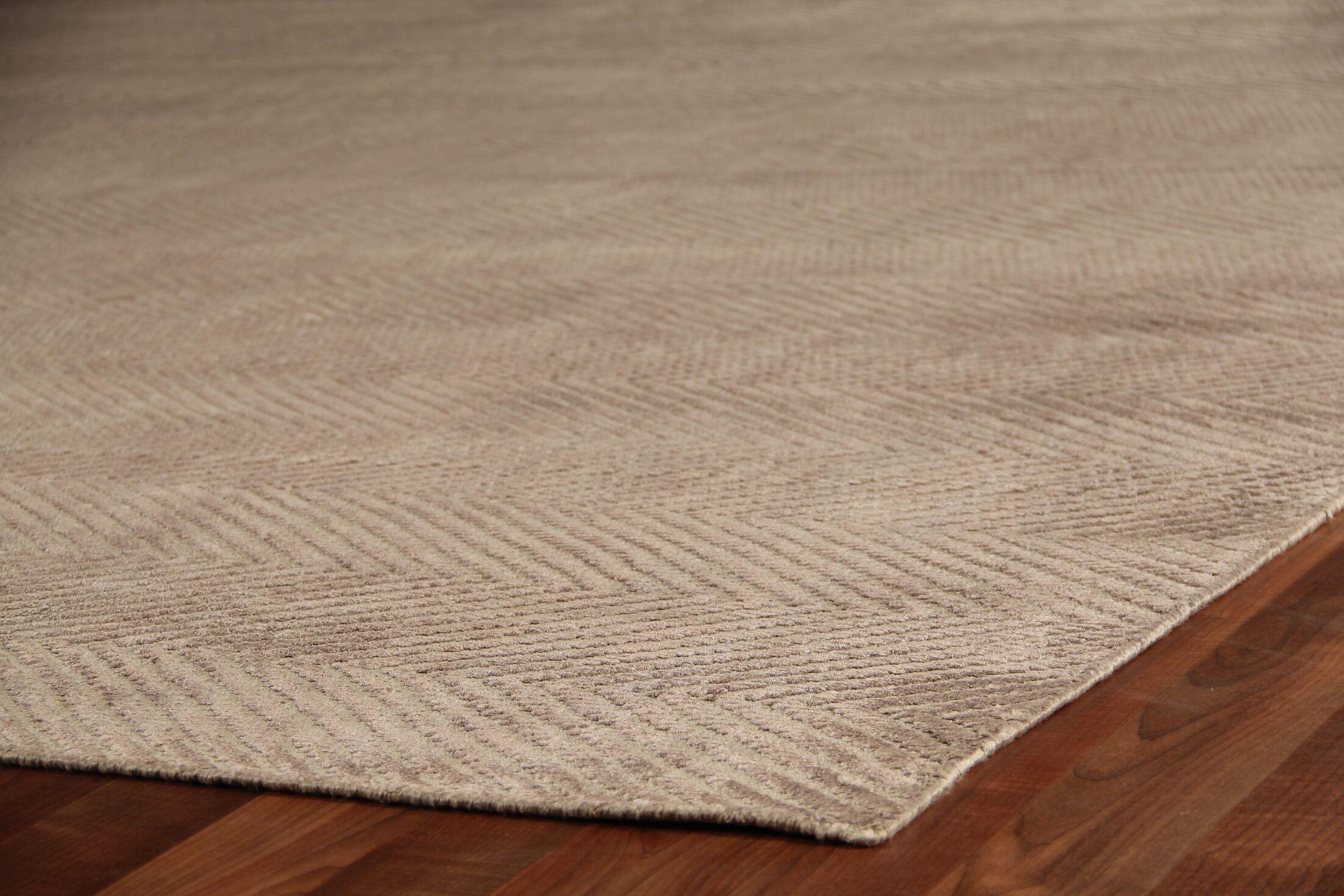 Hand-Woven Silk Dark Gray Area Rug