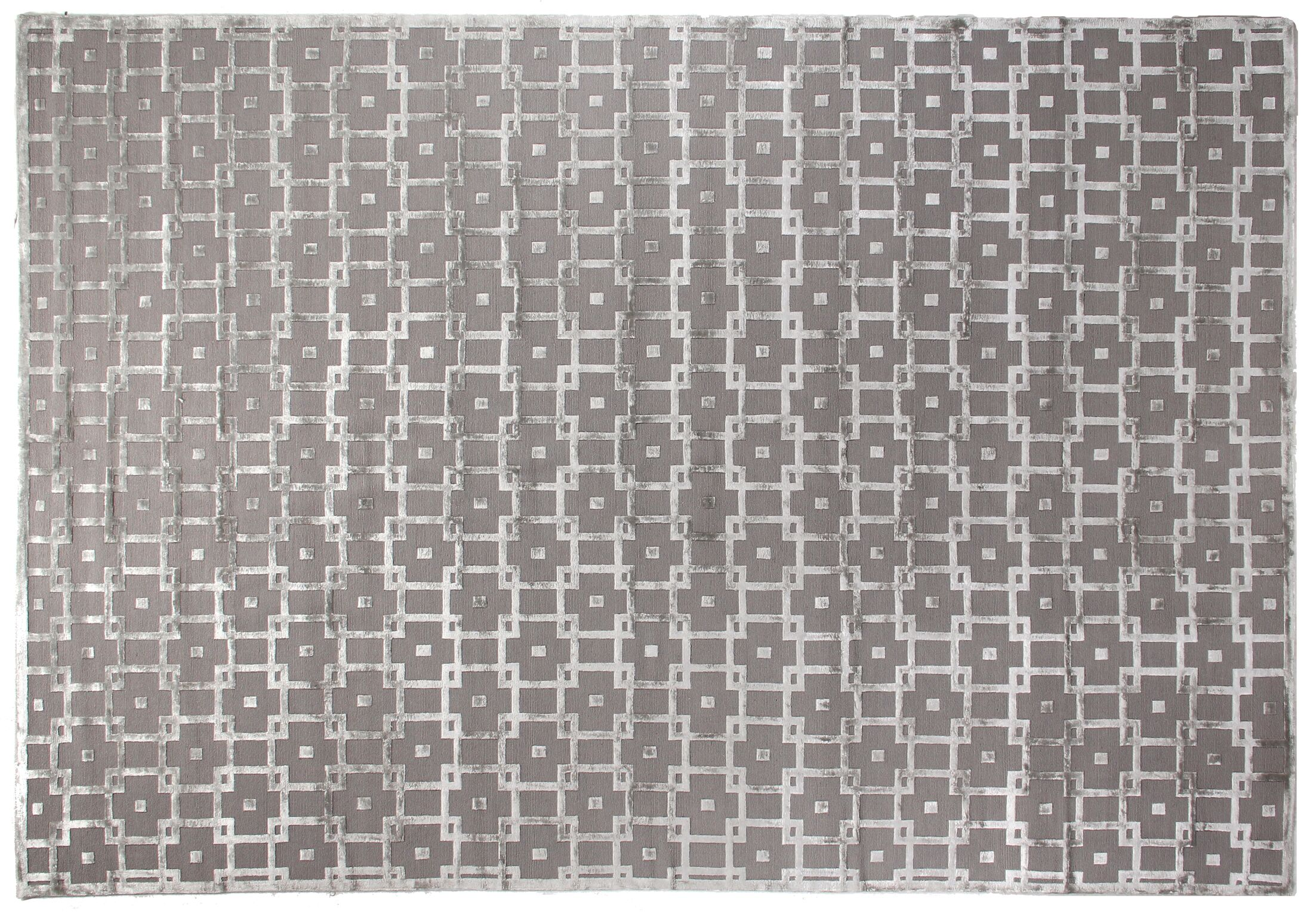 Metro Moreno Hand-Knotted Wool Gray/Silver Area Rug Rug Size: 6' x 9'
