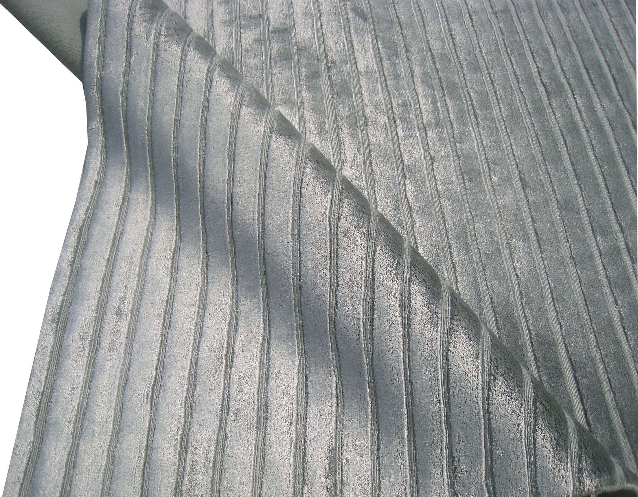 Wave Silk Light Blue Area Rug