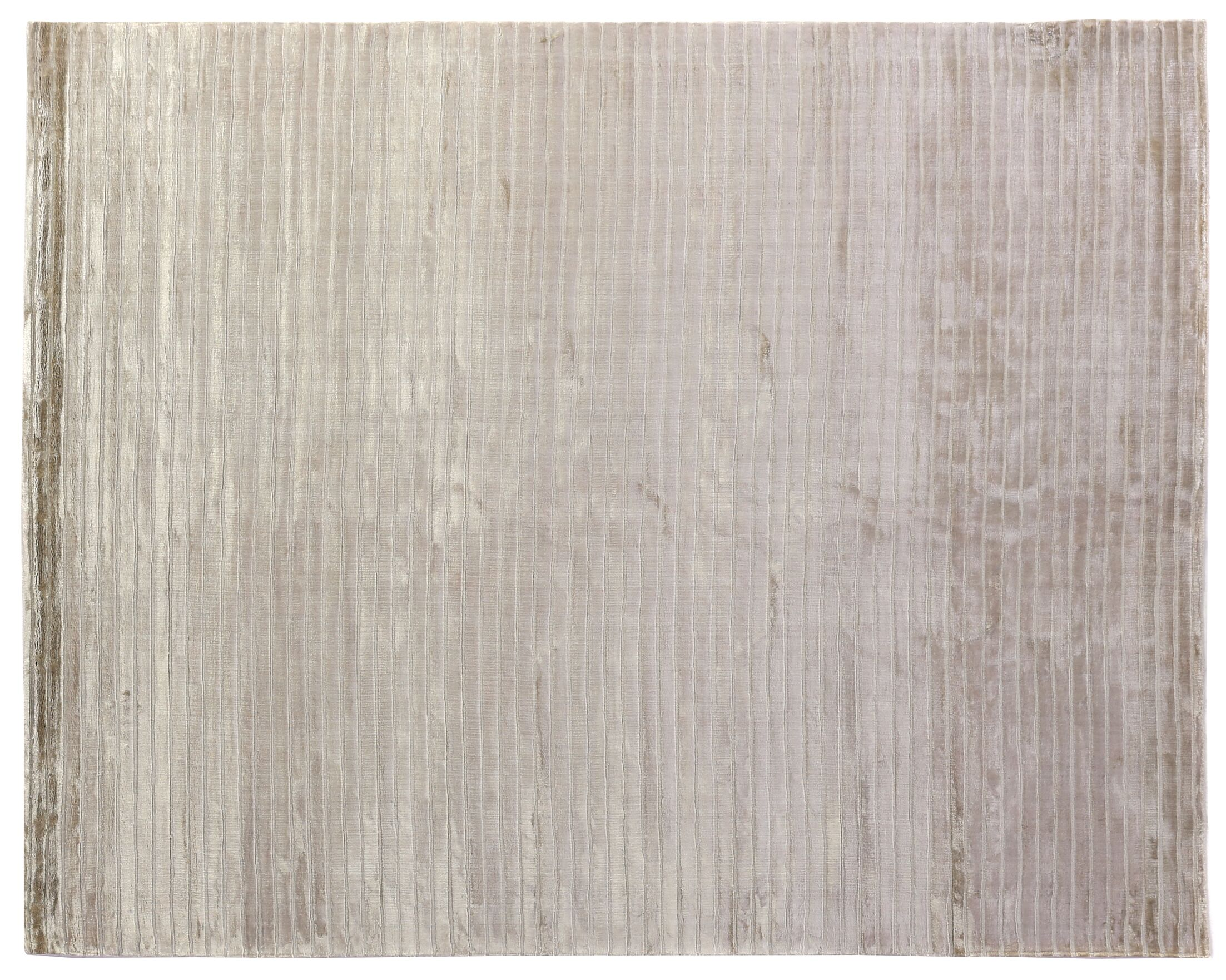 High Low Wave Hand-Woven Light Beige Area Rug Rug Size: 12' x 15'