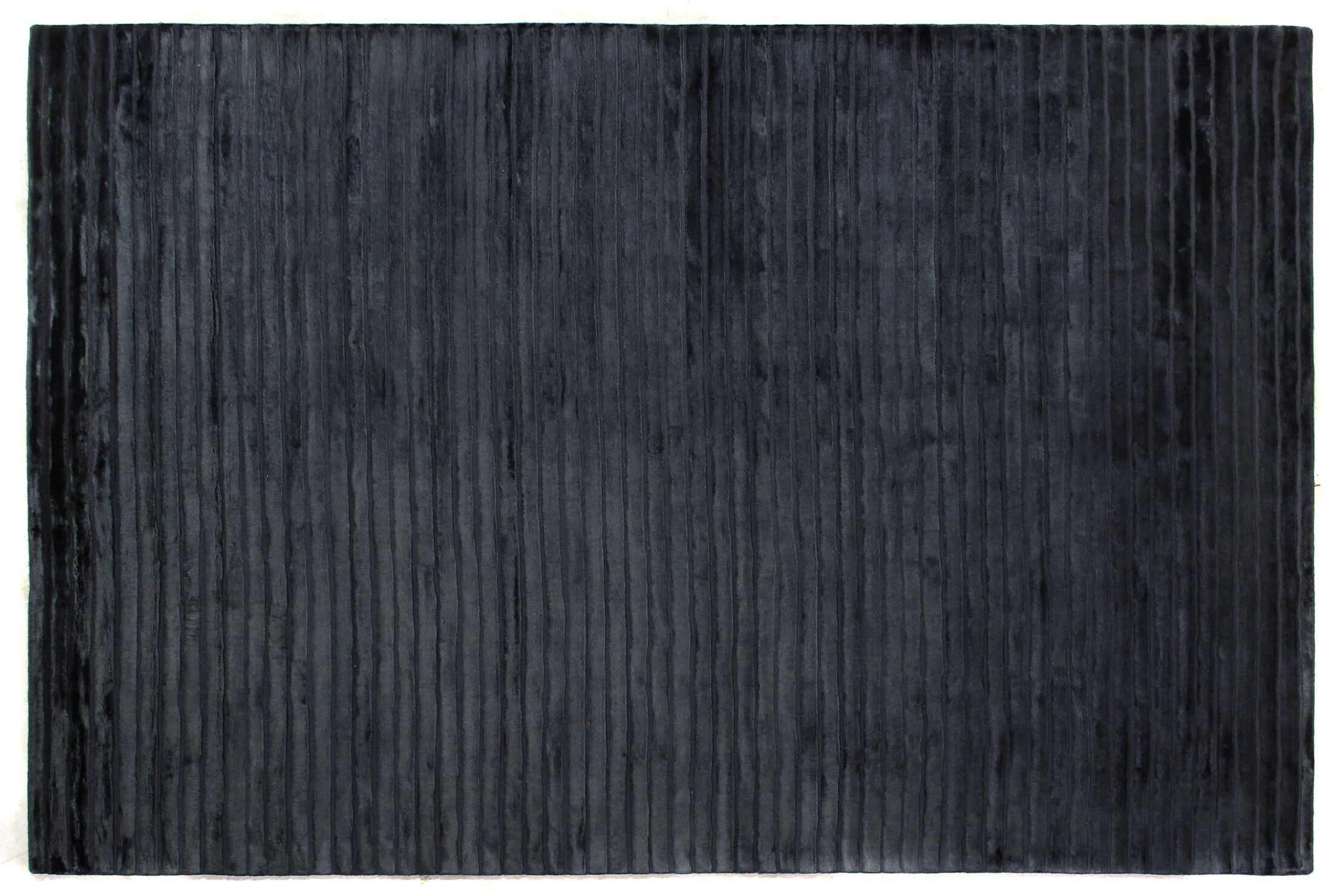 High Low Wave Hand-Woven Navy Area Rug Rug Size: 12' x 15'