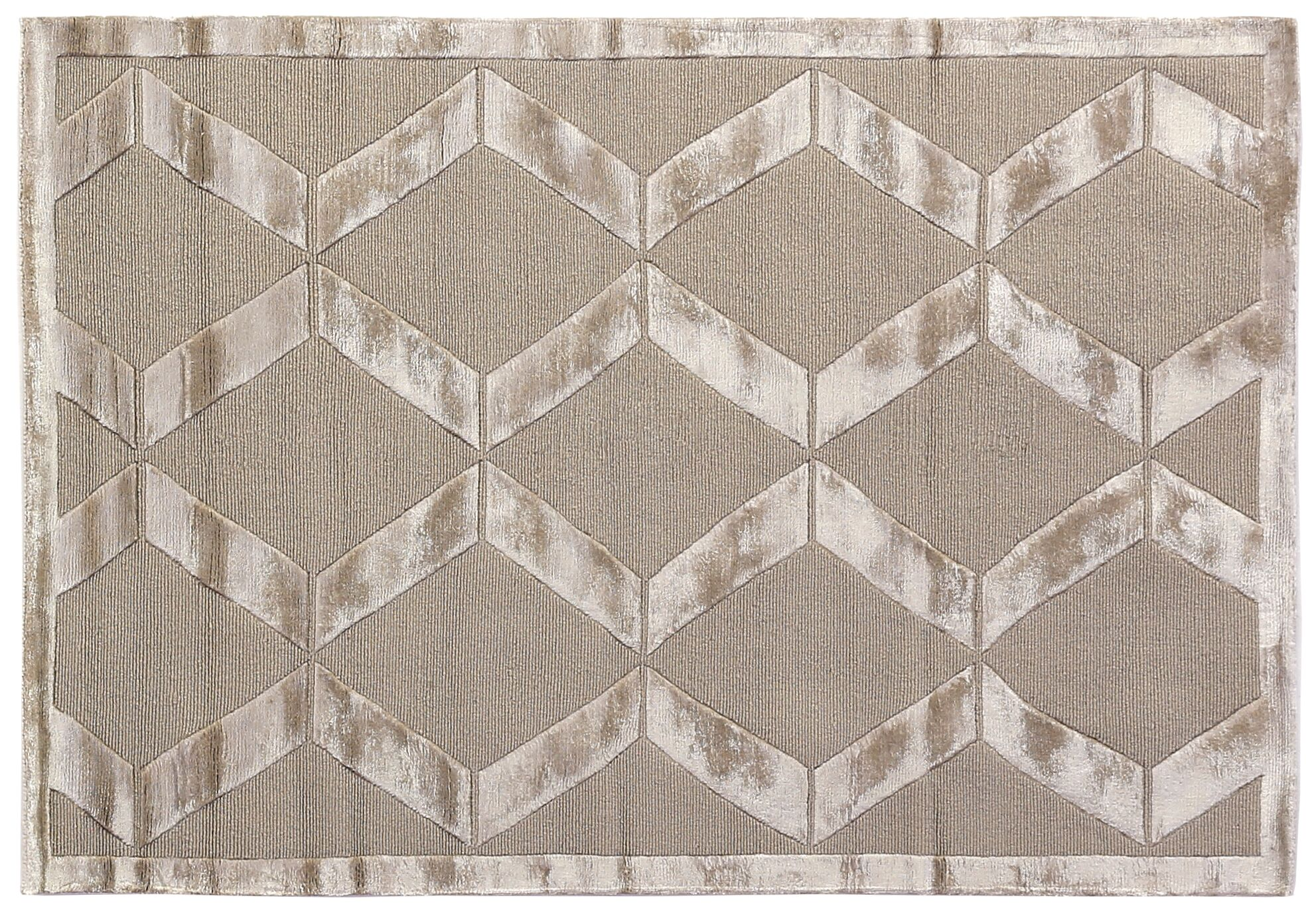Metro Moreno Hand-Knotted Wool Beige Area Rug Rug Size: 6' x 9'