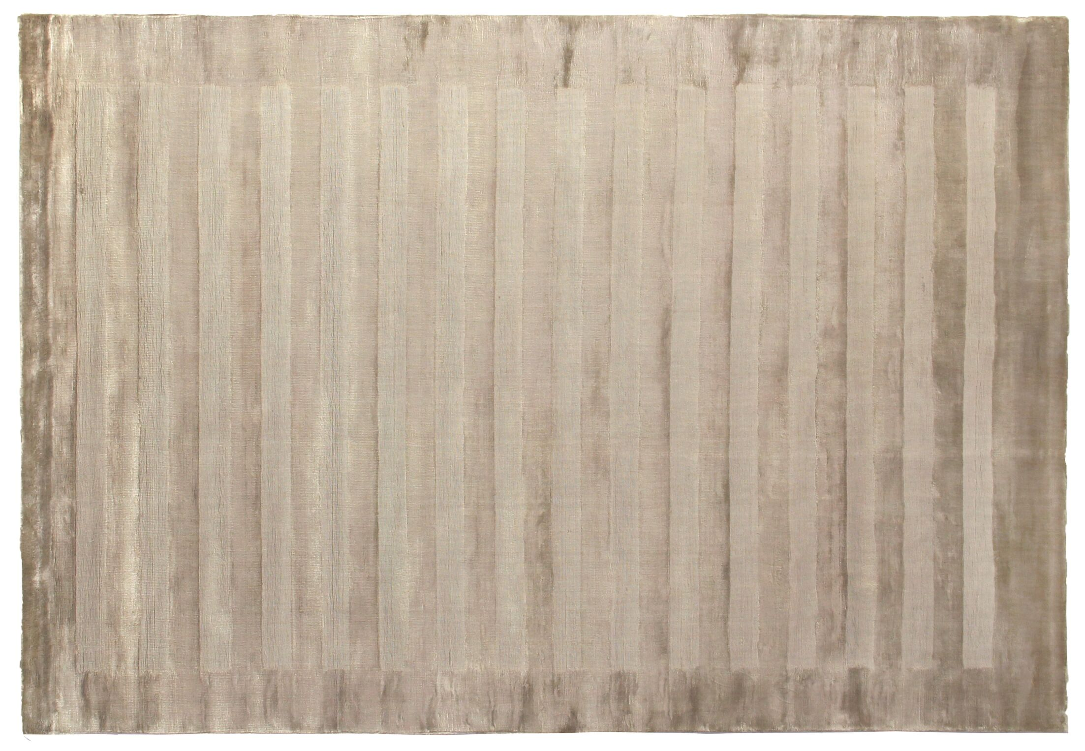 Wide Stripe Panel Hand-Woven Taupe Area Rug Rug Size: 9' x 12'