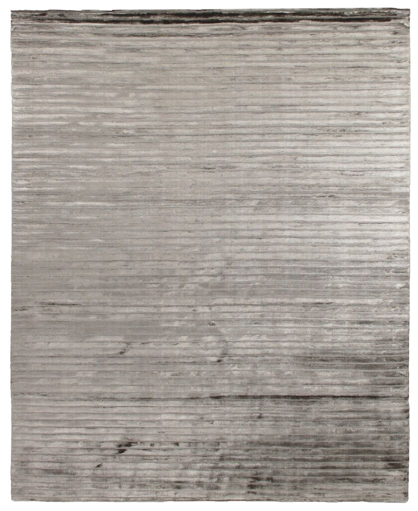 High Low Hand-Woven Dark Gray Area Rug Rug Size: 6' x 9'