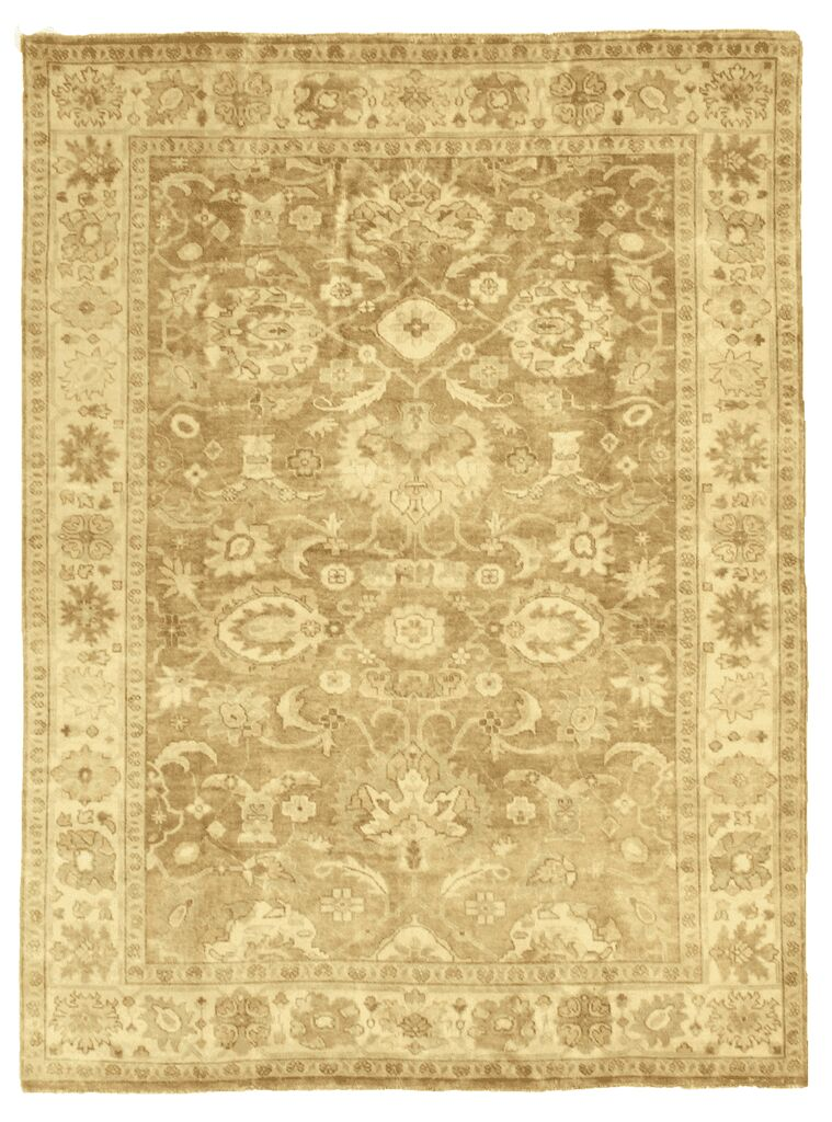 Oushak Hand-Knotted Wool Brown Area Rug Rug Size: 12' x 15'