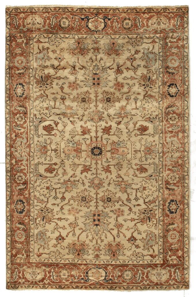 Serapi Hand-Knotted Wool Ivory Area Rug Rug Size: 10' x 14'