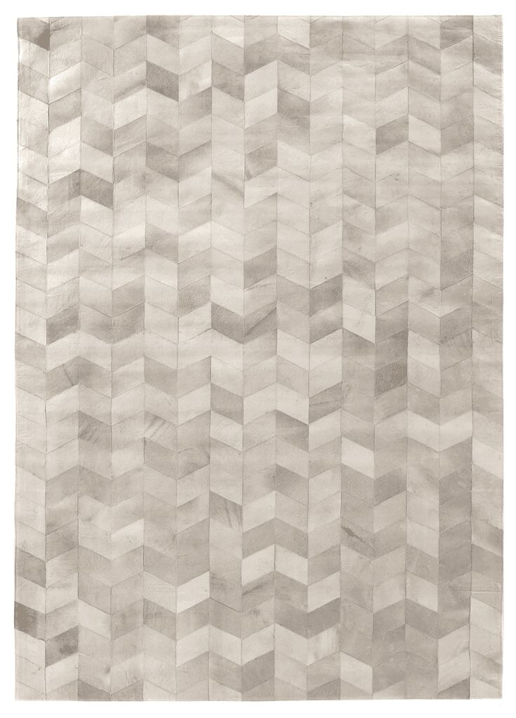 Natural Hide Hand-Woven Silver Area Rug Rug Size: 8' x 11'