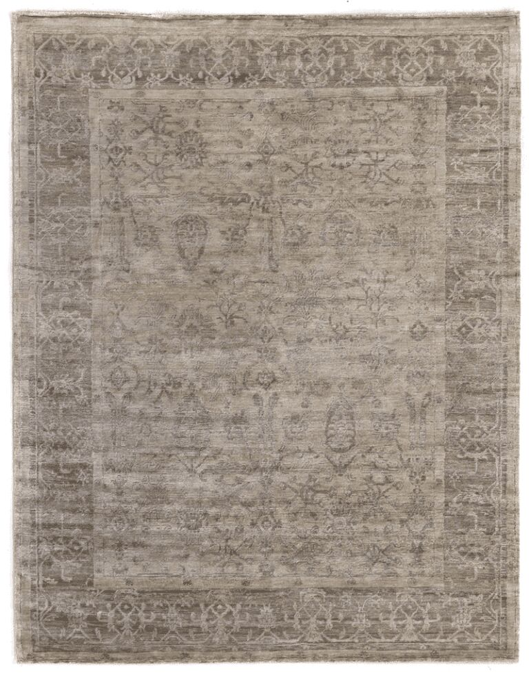 Hand-Knotted Beige Area Rug Rug Size: Rectangle 10' x 14'