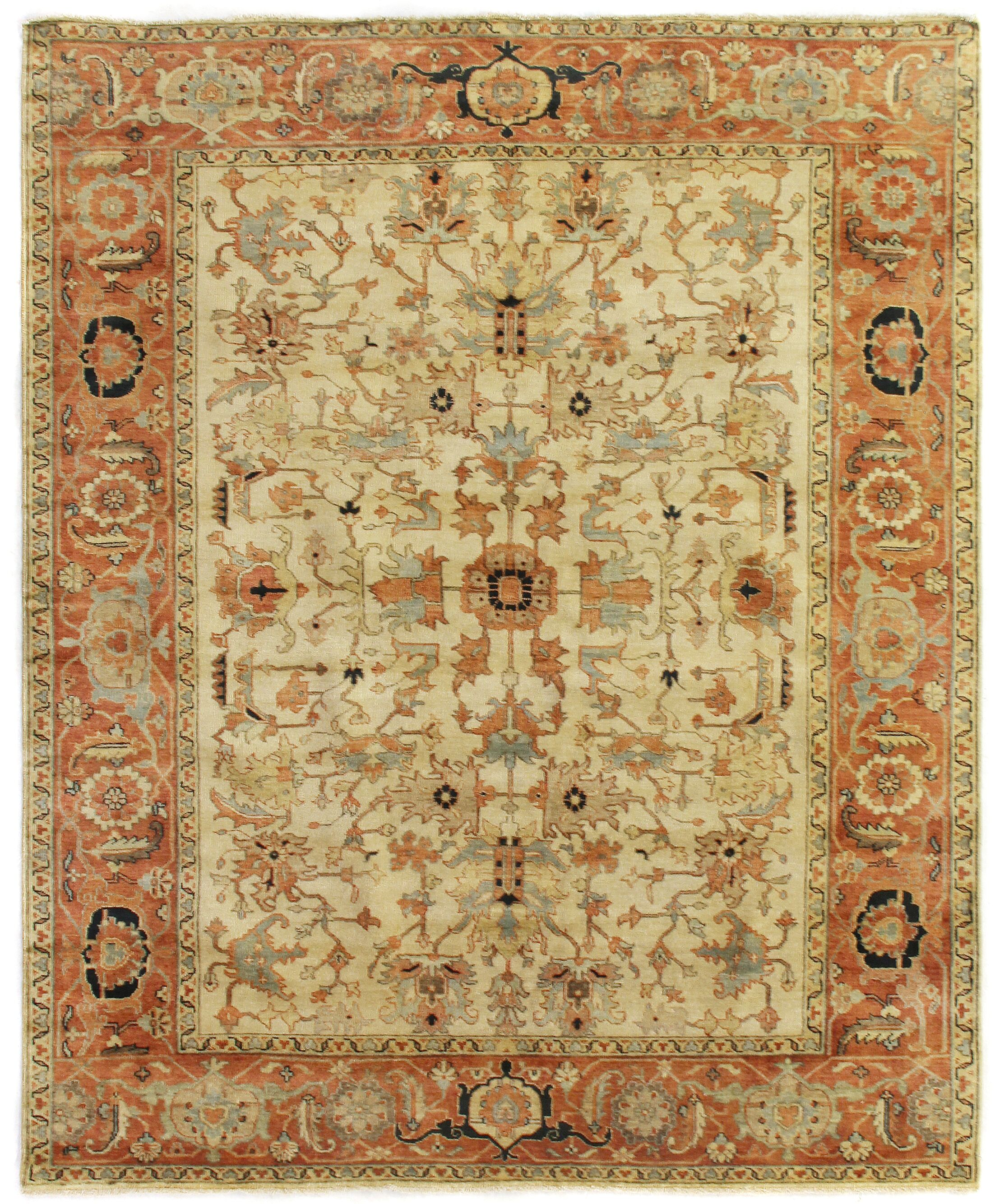 Serapi Hand-Knotted Wool Ivory Area Rug Rug Size: 14' x 18'