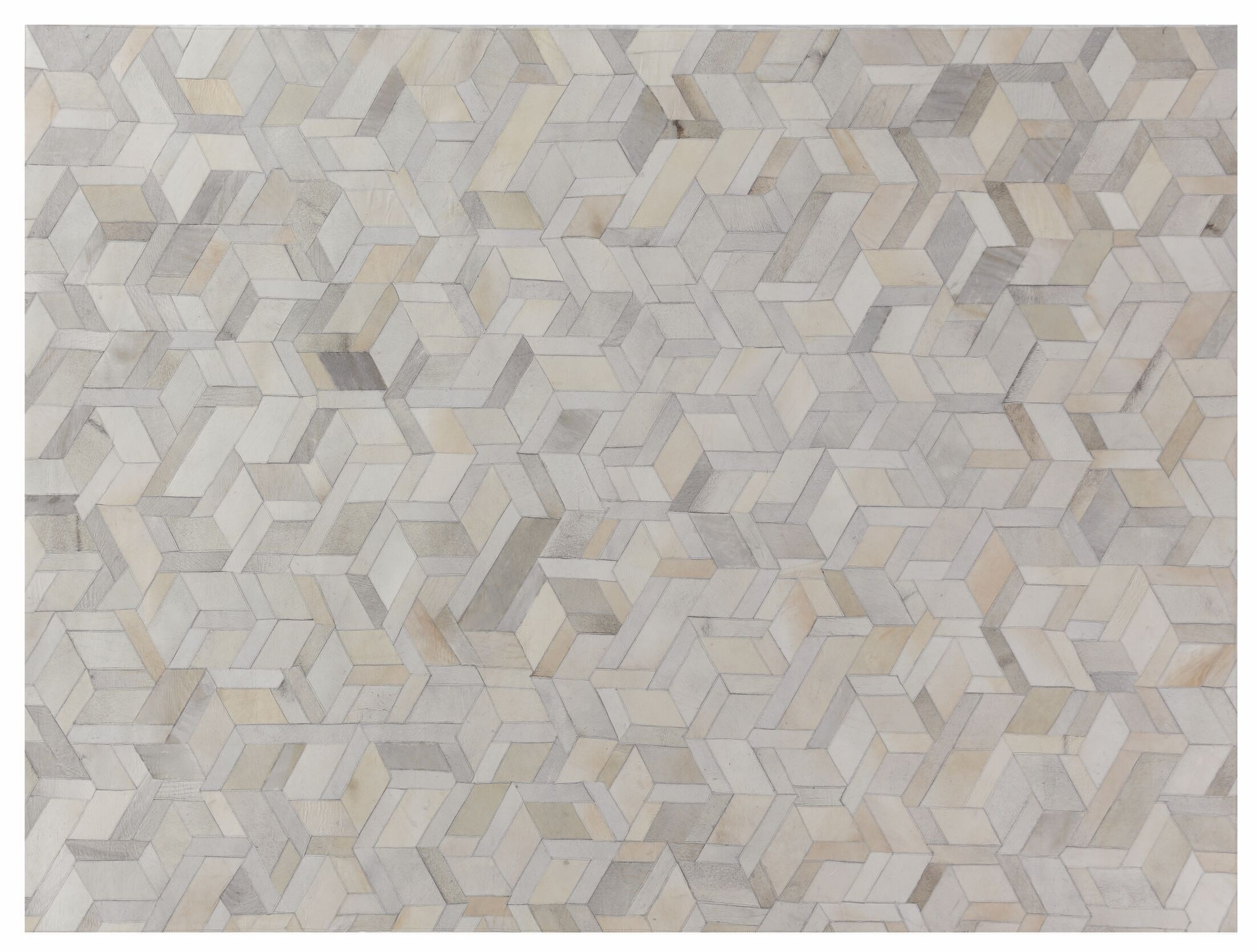 Natural Hide Hand-Tufted Cowhide Ivory Area Rug Rug Size: Rectangle 11'6