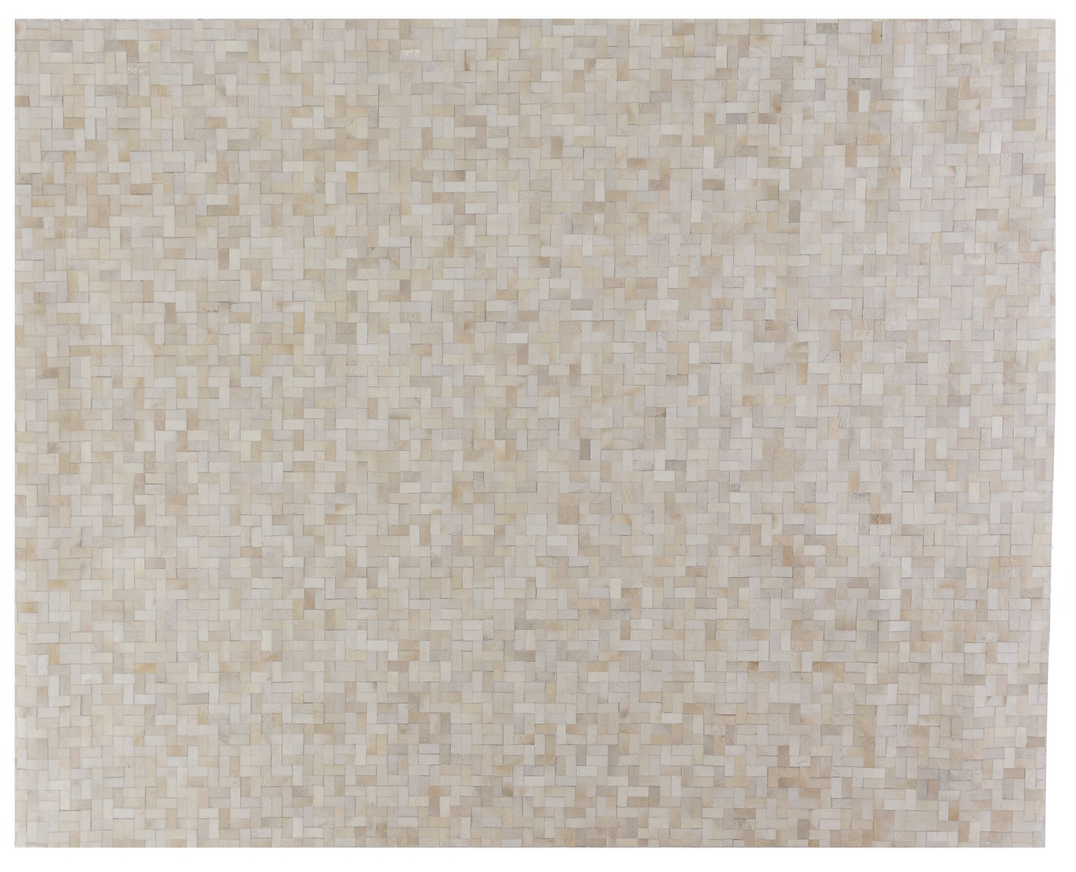 Natural Hide Hand-Tufted Cowhide Ivory/Natural Area Rug Rug Size: Rectangle 10' x 8'