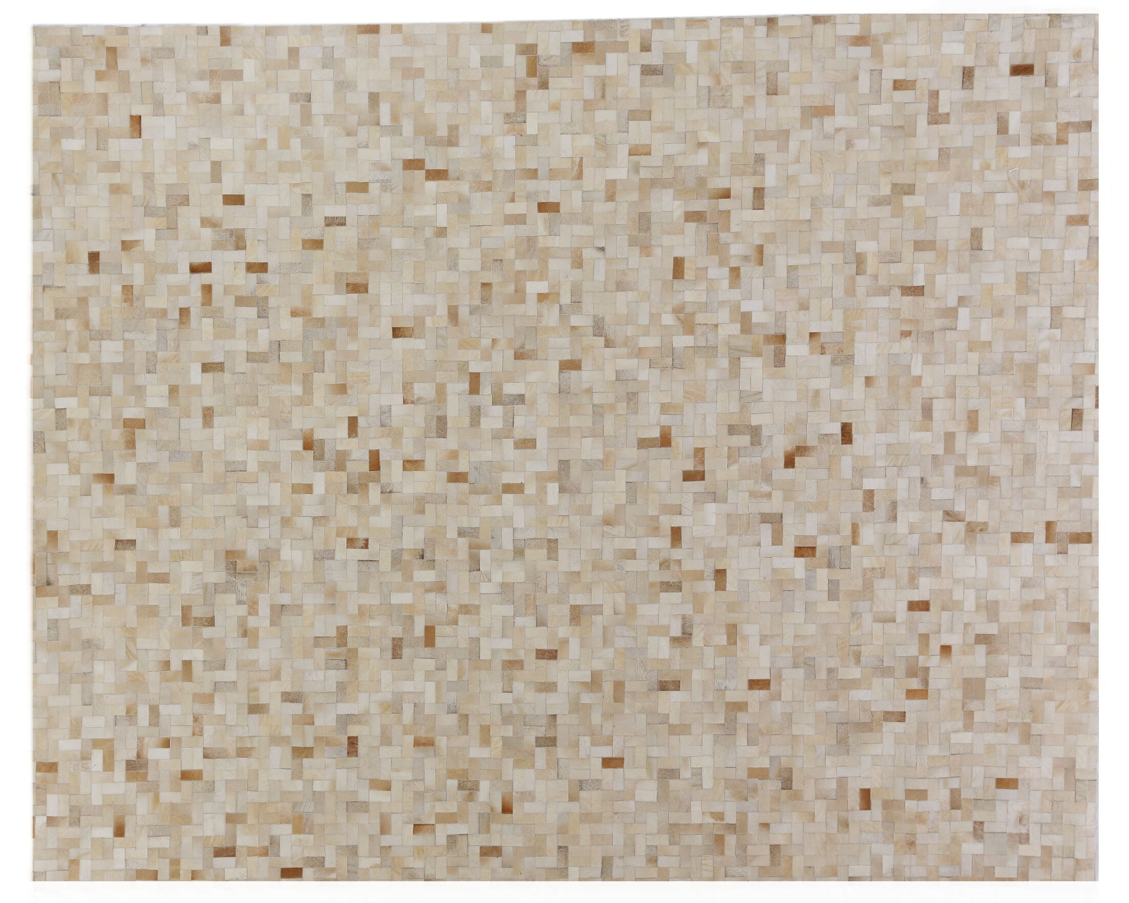 Natural Hide Hand-Tufted Cowhide Natural/Beige Area Rug Rug Size: Rectangle 8' x 10'