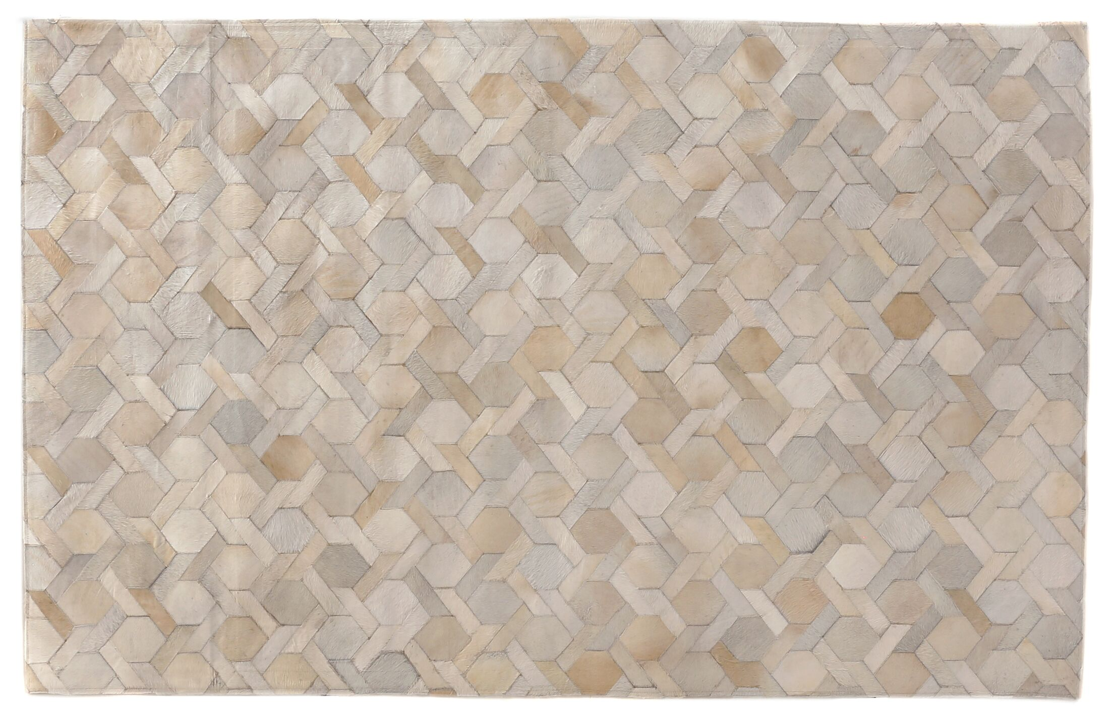 Natural Hide Hand-Tufted Cowhide Ivory Area Rug Rug Size: 12' x 15'