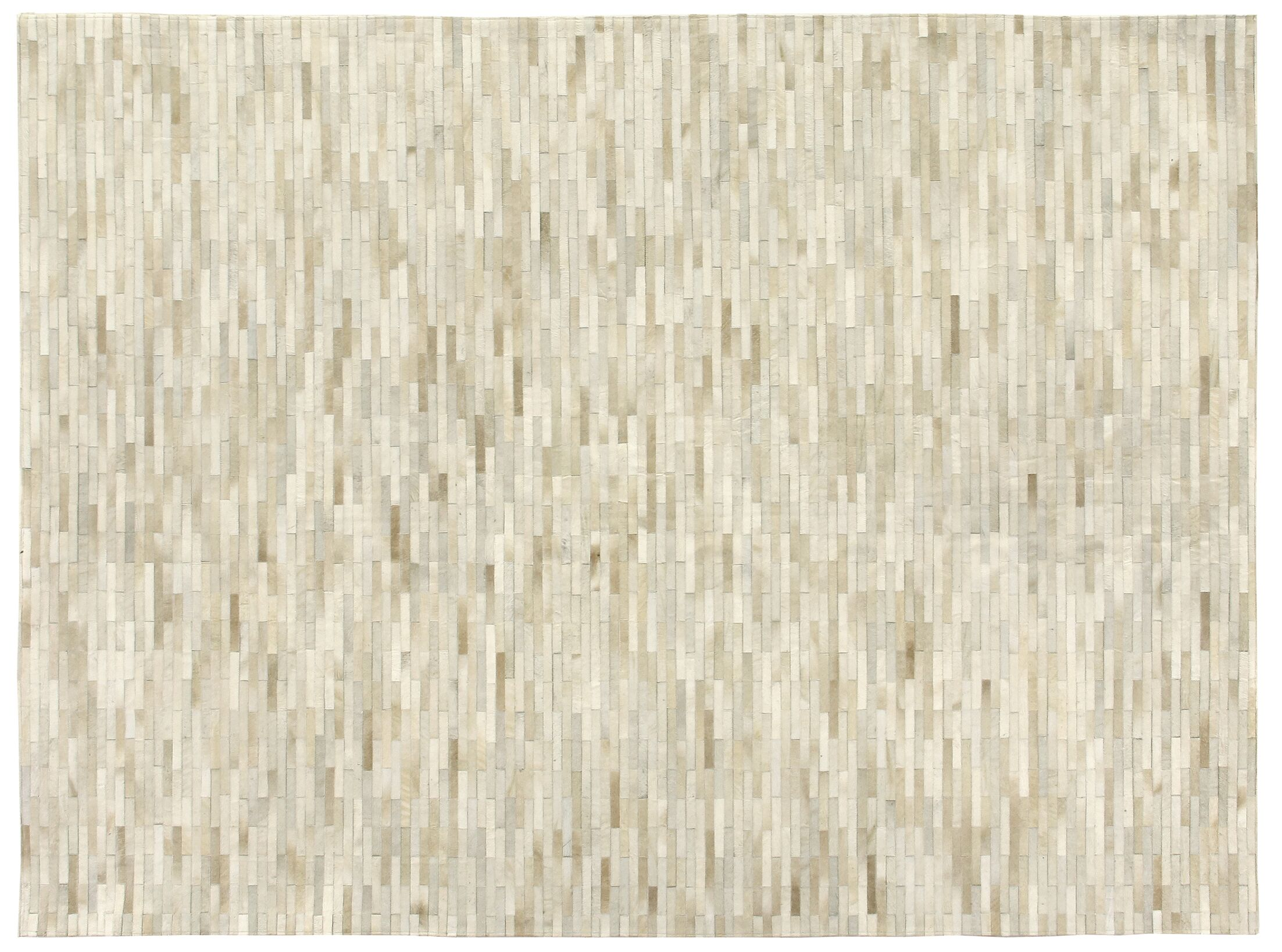 Natural Hide Hand-Tufted Cowhide Brick/Ivory Area Rug Rug Size: 9'6