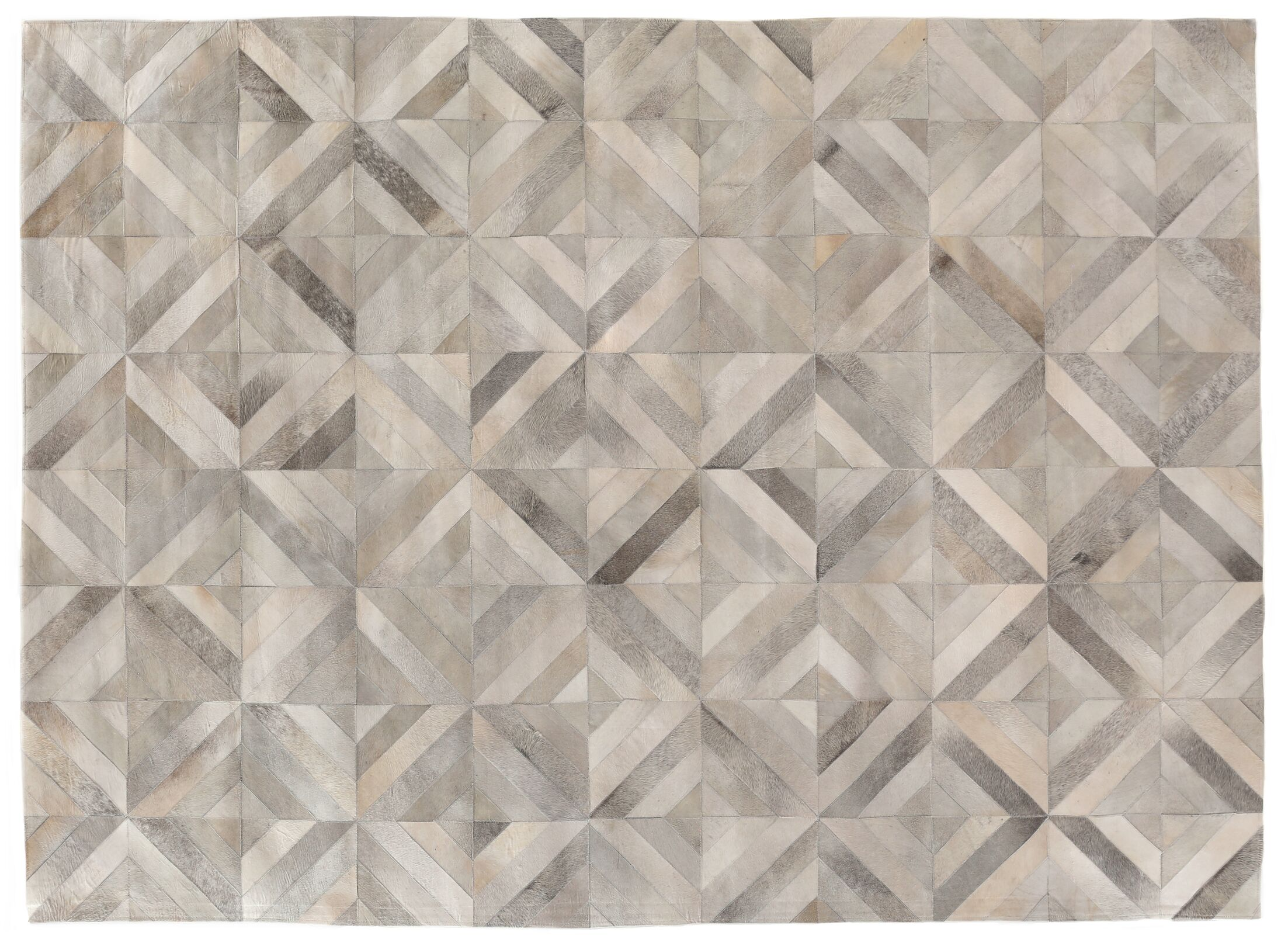 Natural Hide Hand-Tufted Cowhide Silver Area Rug Rug Size: 5' x 8'