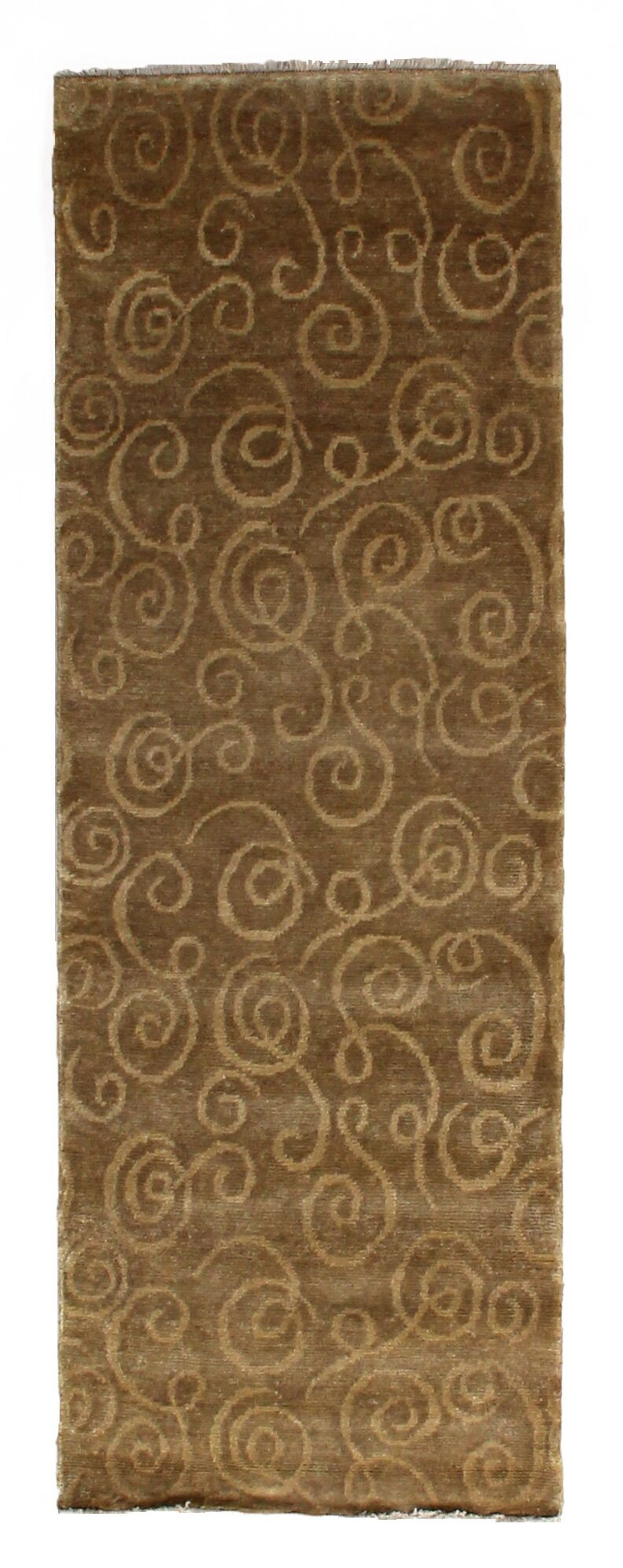 Metropolitan Hand-Knotted Wool Gold Area Rug Rug Size: Runner 2'6