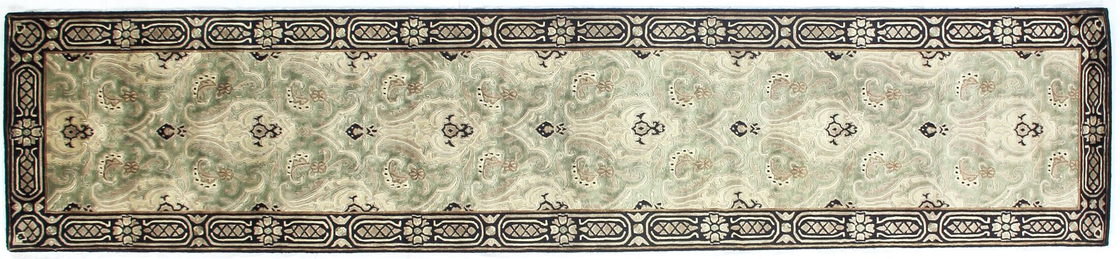 Tibetan Weave Hand-Knotted Wool Gray/Beige Area Rug