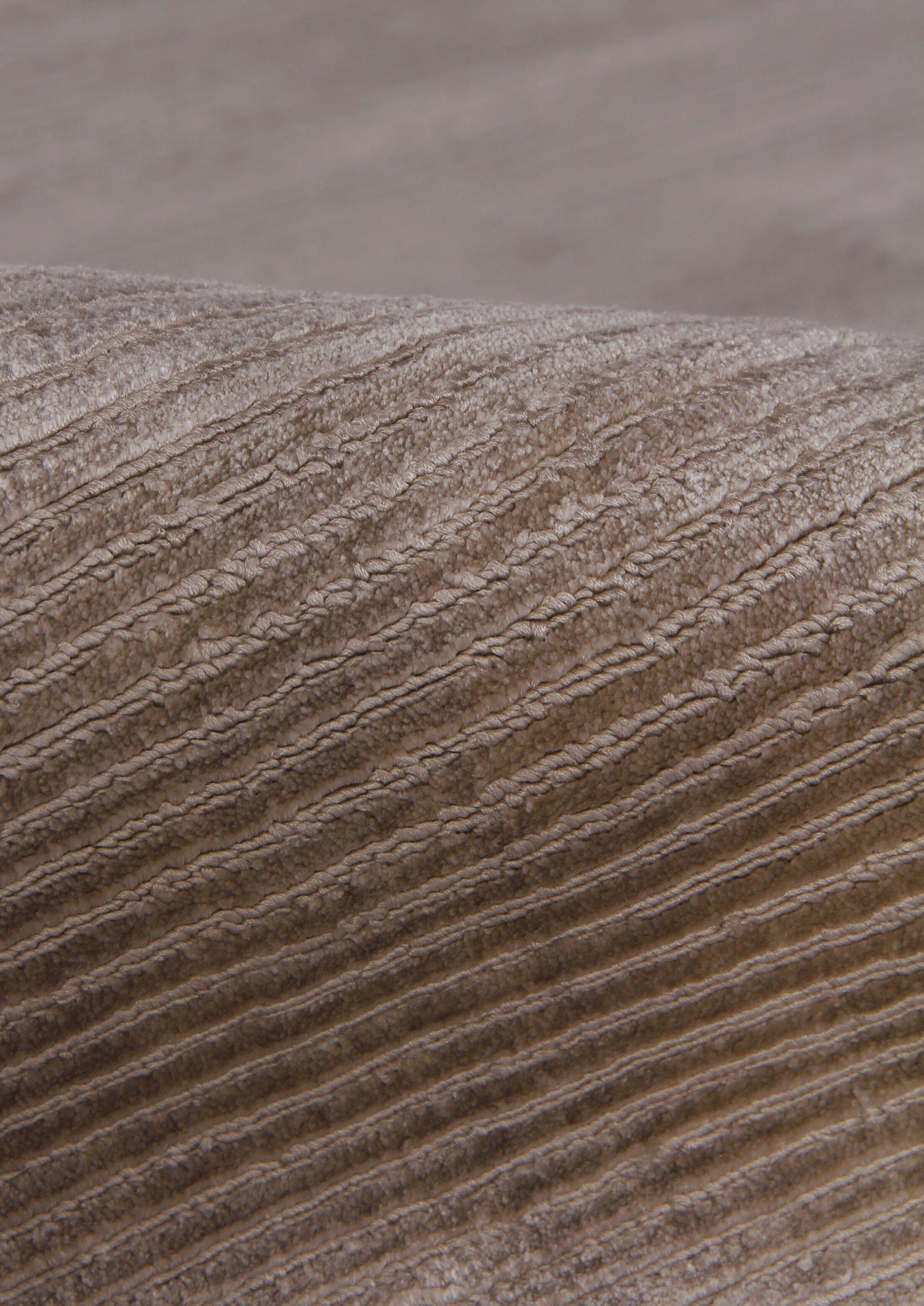 Hand Woven Silk Light Silver Area Rug Rug Size: Rectangle 5' x 8'