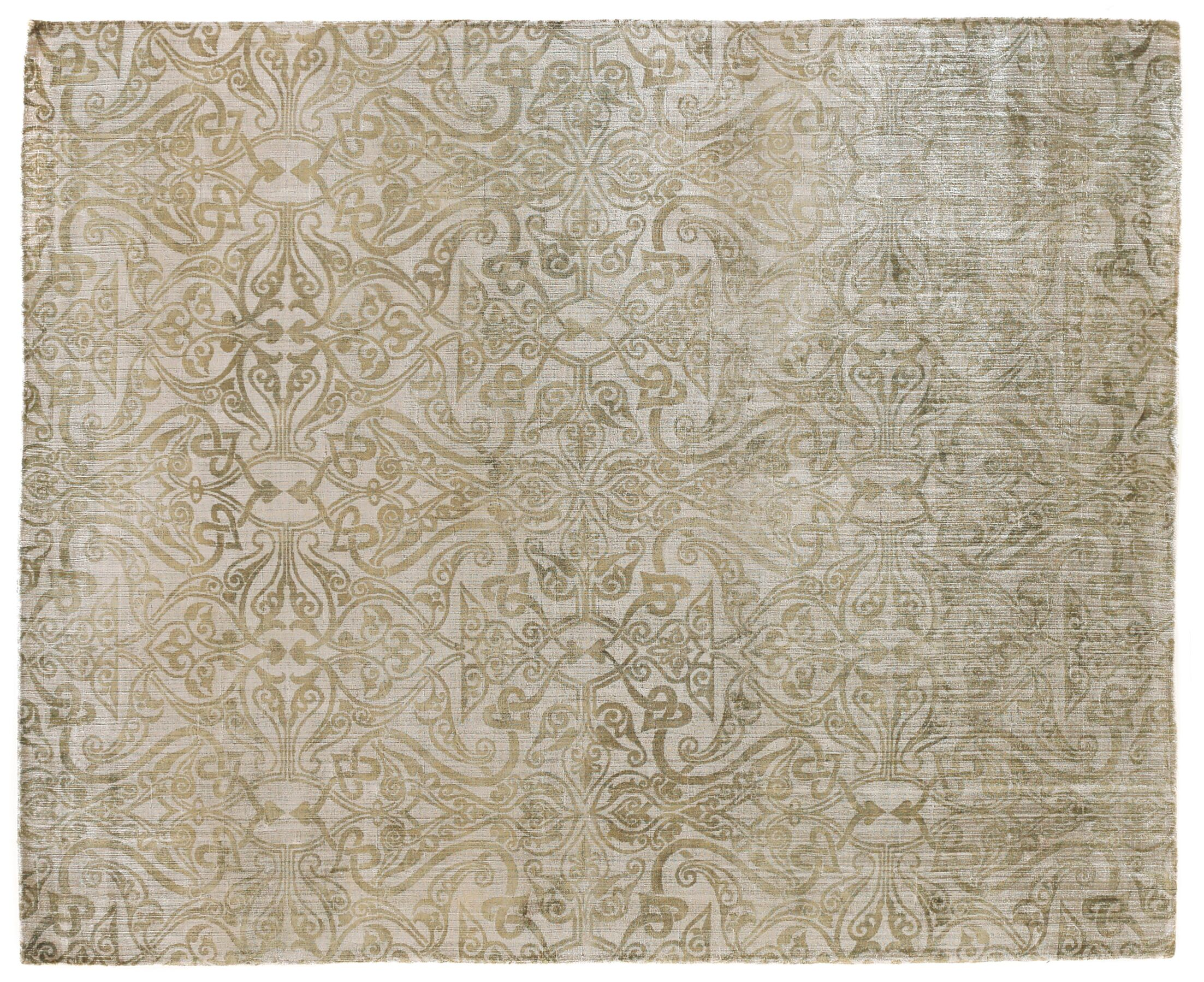 Koda Hand Woven Silk Light Beige Area Rug Rug Size: Rectangle 8' x 10'