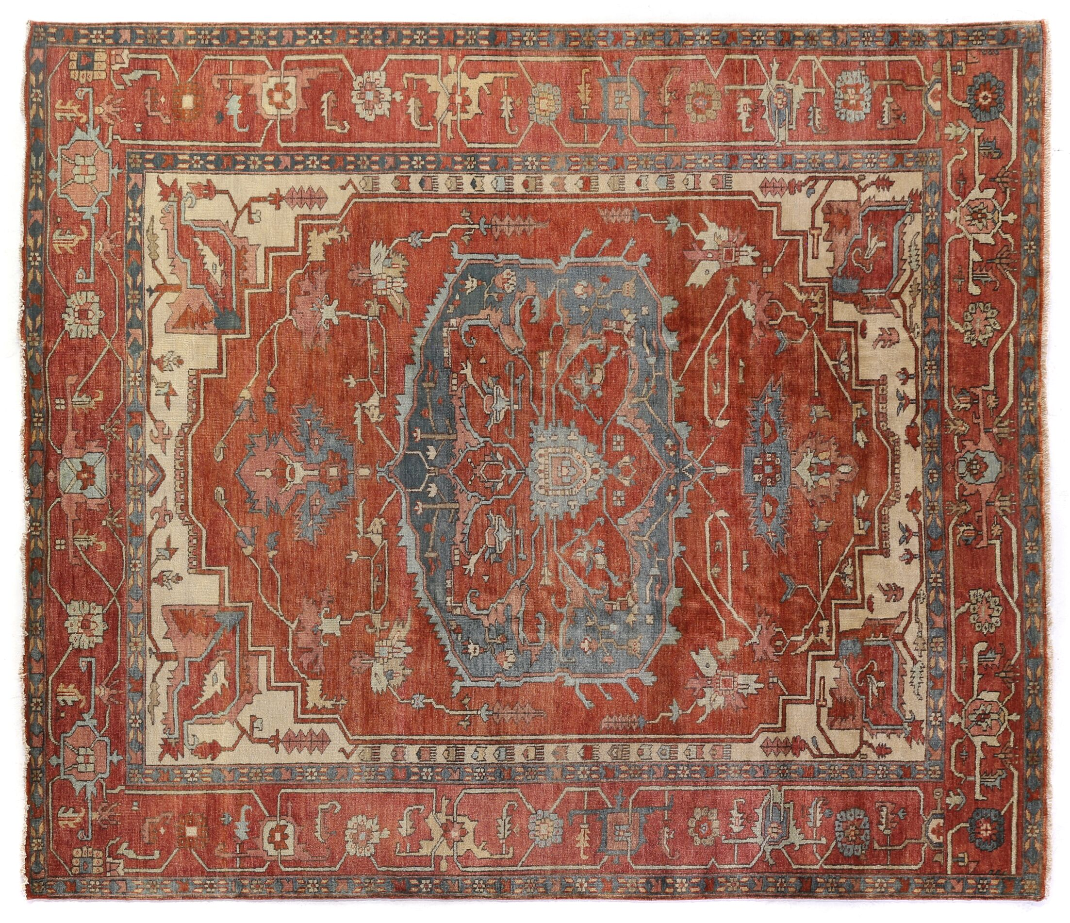 Serapi Hand Woven Wool Red/Rust Area Rug Rug Size: Rectangle 8' x 10'