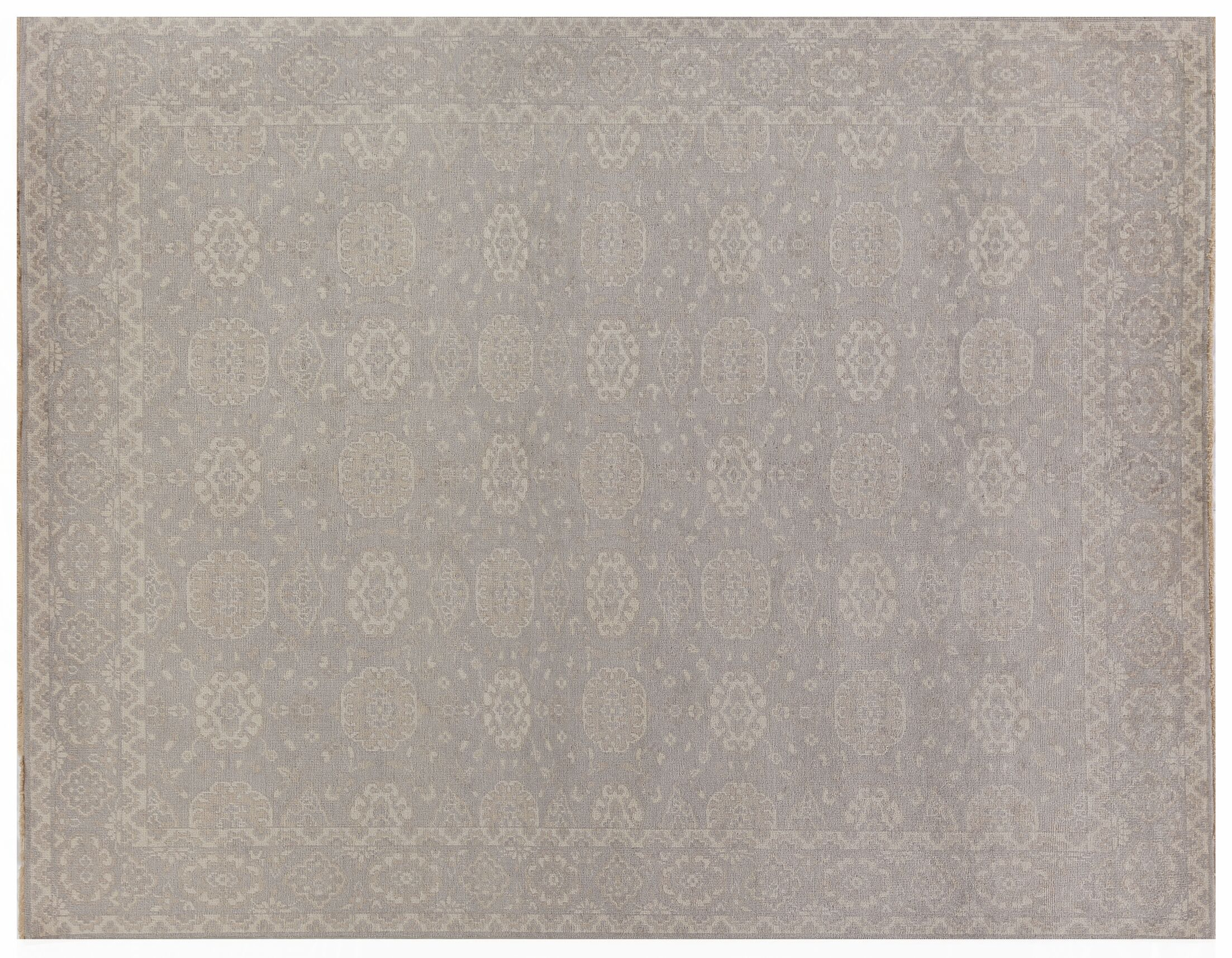 Restoration Hand-Knotted Wool Beige Area Rug Rug Size: Rectangle10' x 14'