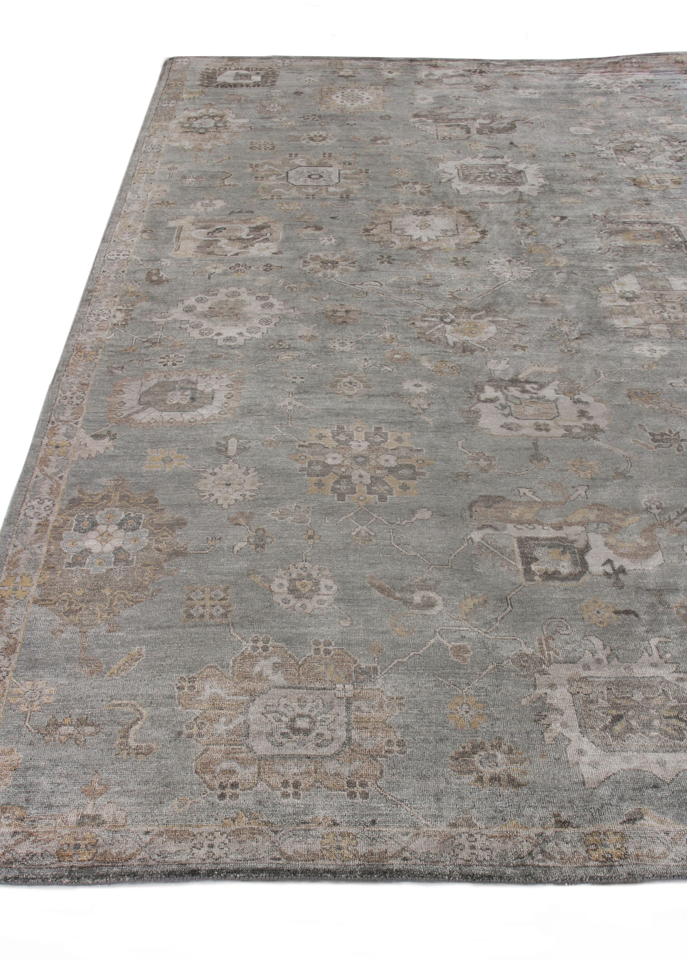 Museum Hand-Knotted Brown/Gray Area Rug Rug Size: Rectangle9' x 12'