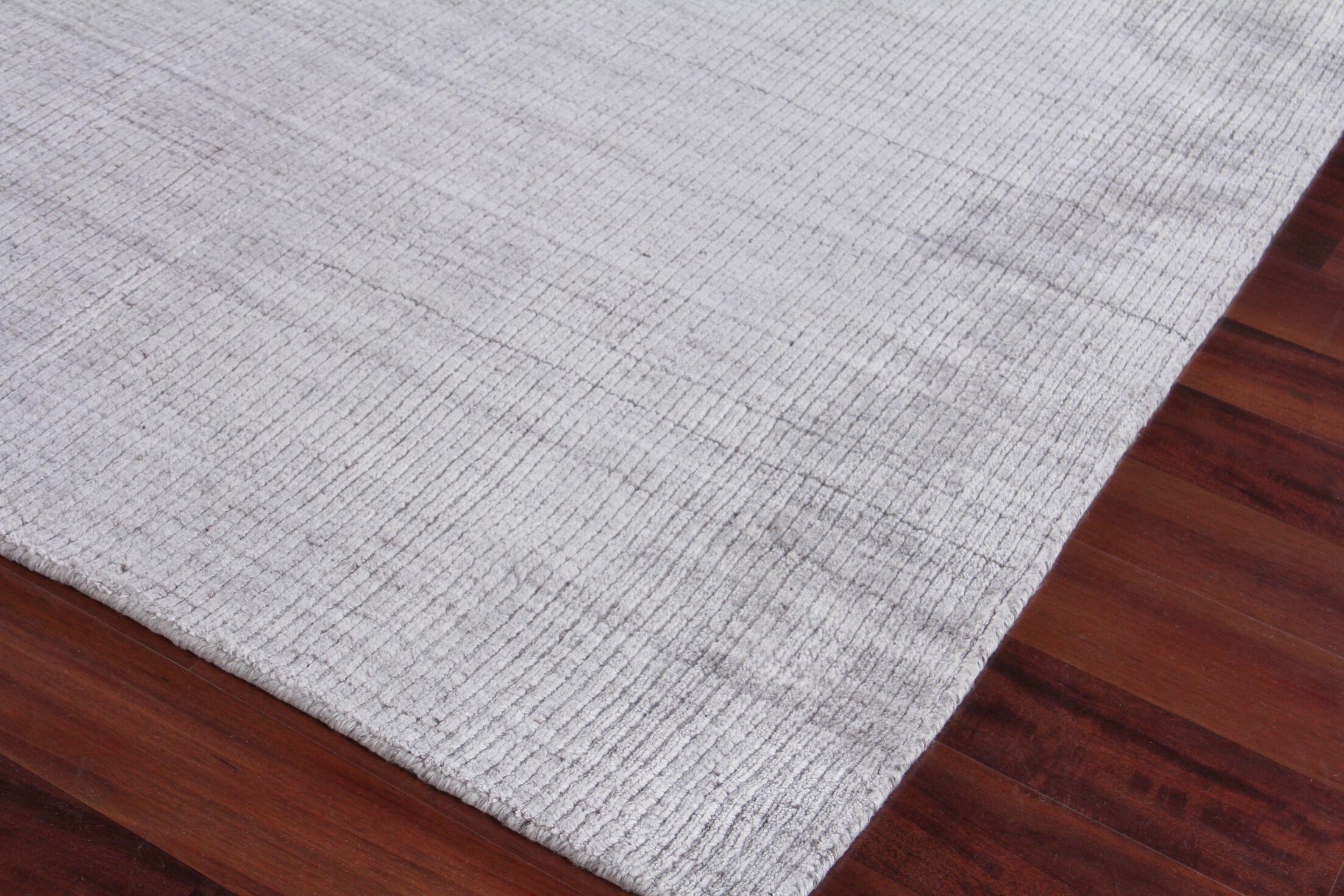 Robin Hand-Woven Silver Area Rug Rug Size: Rectangle 12' x 15'