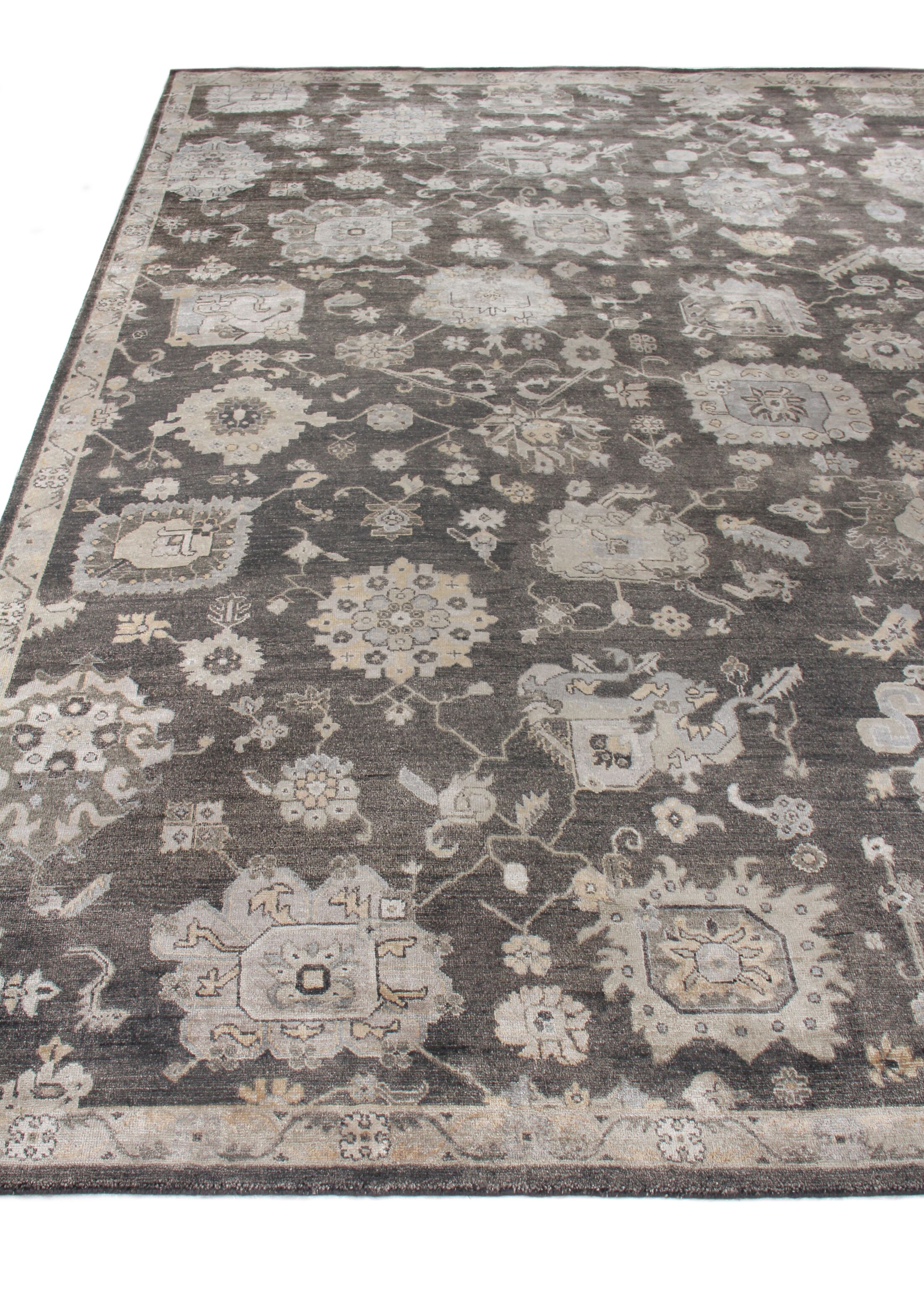 Museum Hand-Knotted Silk Midnight Blue Area Rug Rug Size: Rectangle6' x 9'