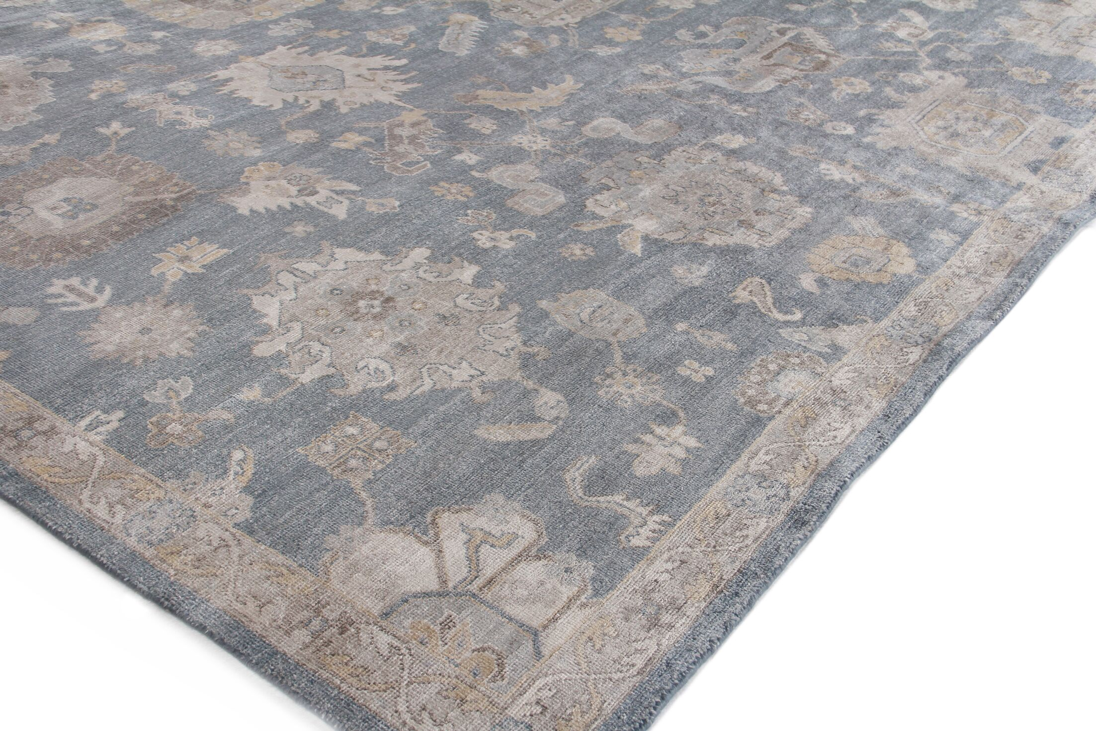 Museum Hand-Knotted Midnight Blue Area Rug Rug Size: Rectangle6' x 9'