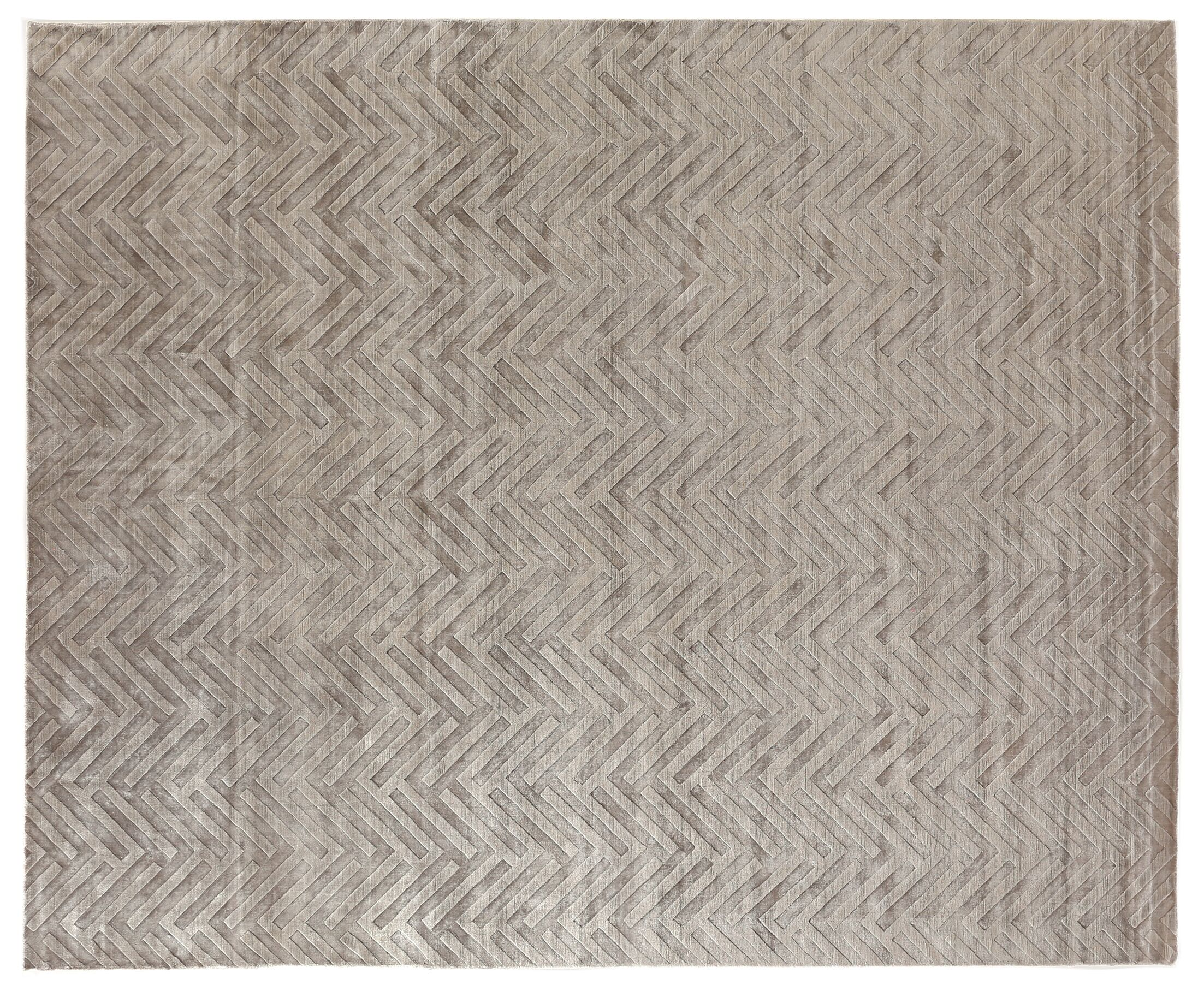 Smooch Carved Hand-Woven Silver Area Rug Rug Size: Rectangle 12' x 15'