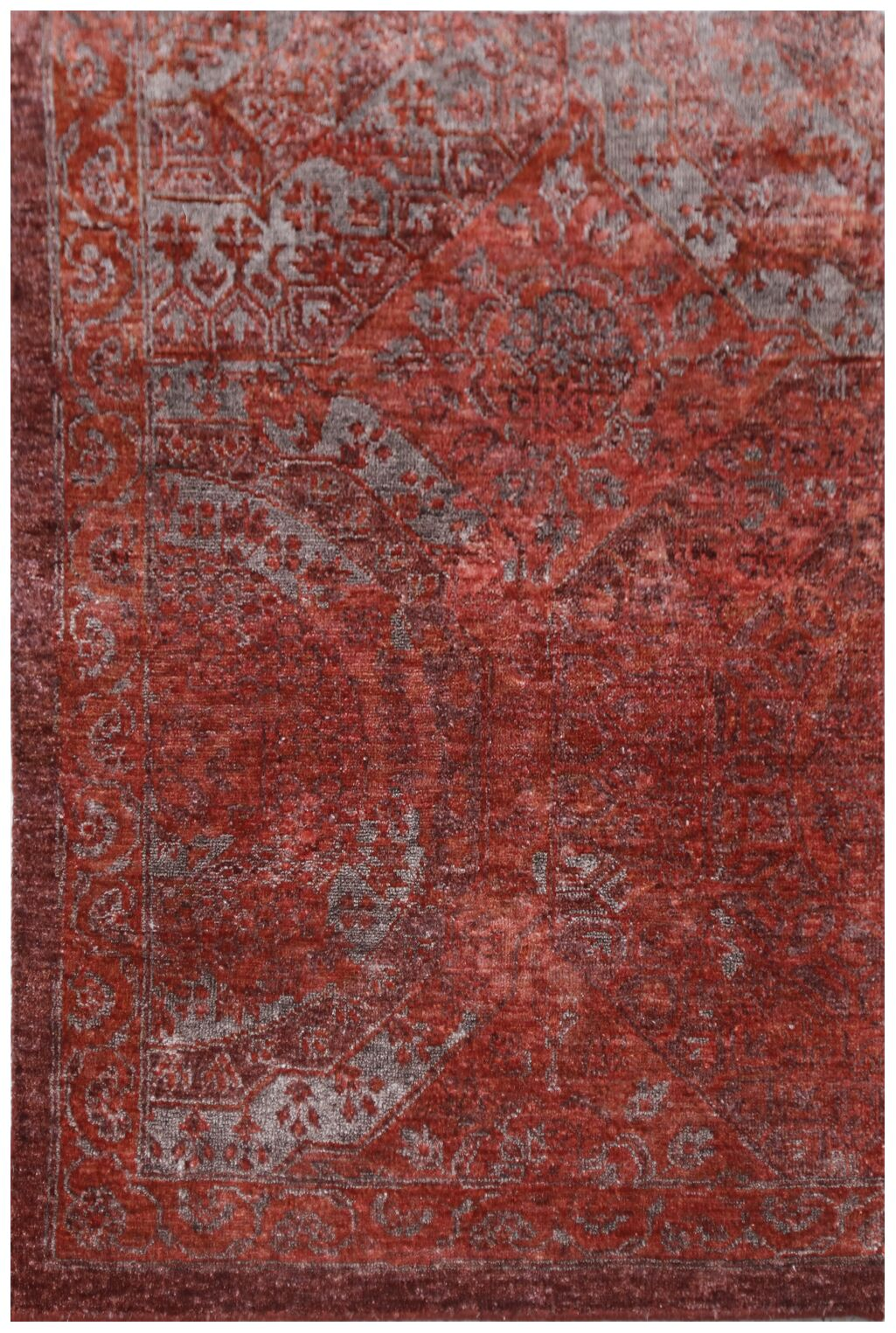 Fine Mamluk Hand-Knotted Silk Red Area Rug Rug Size: Rectangle8' x 10'